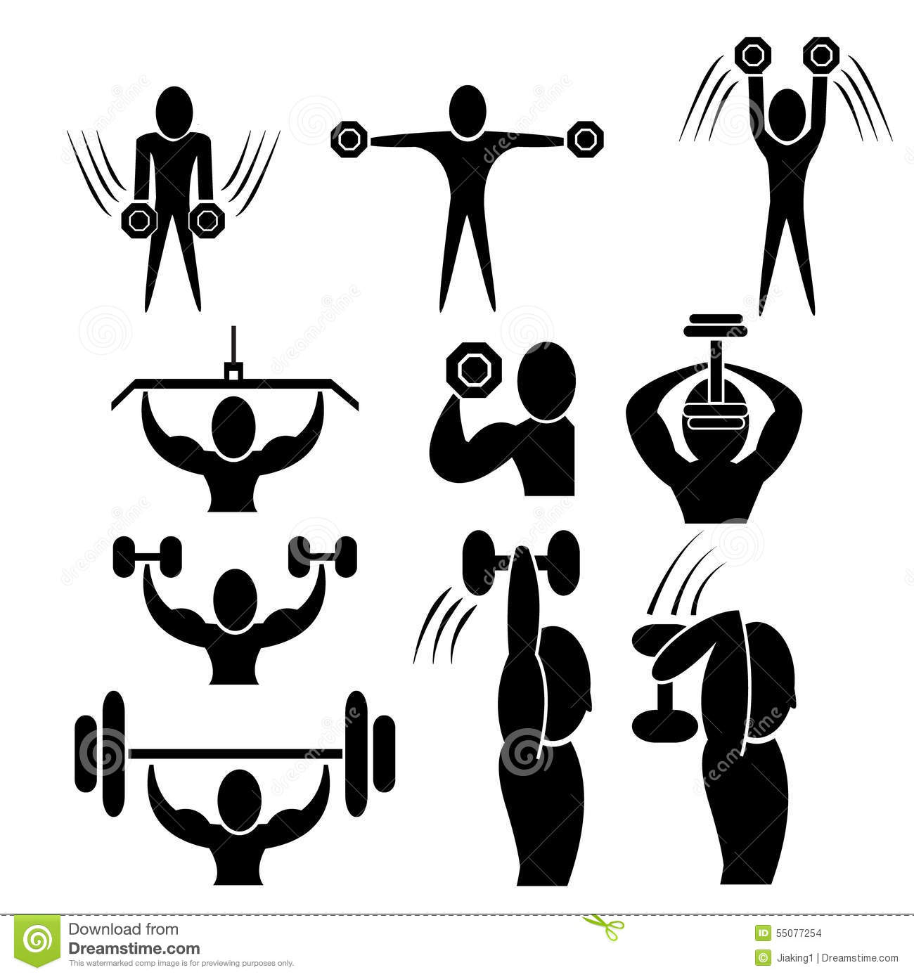 Set Of Fitness Icon Stock Vector - Image: 55077254