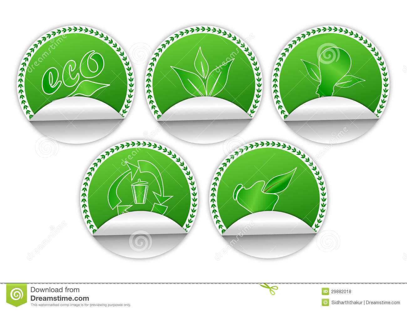 Environment Friendly Stickers Stock Illustration Illustration Of
