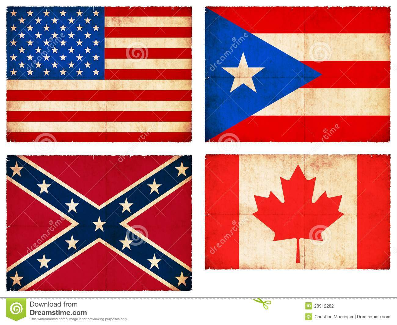 Set Of Flags From North America Stock Illustration Image - north flags