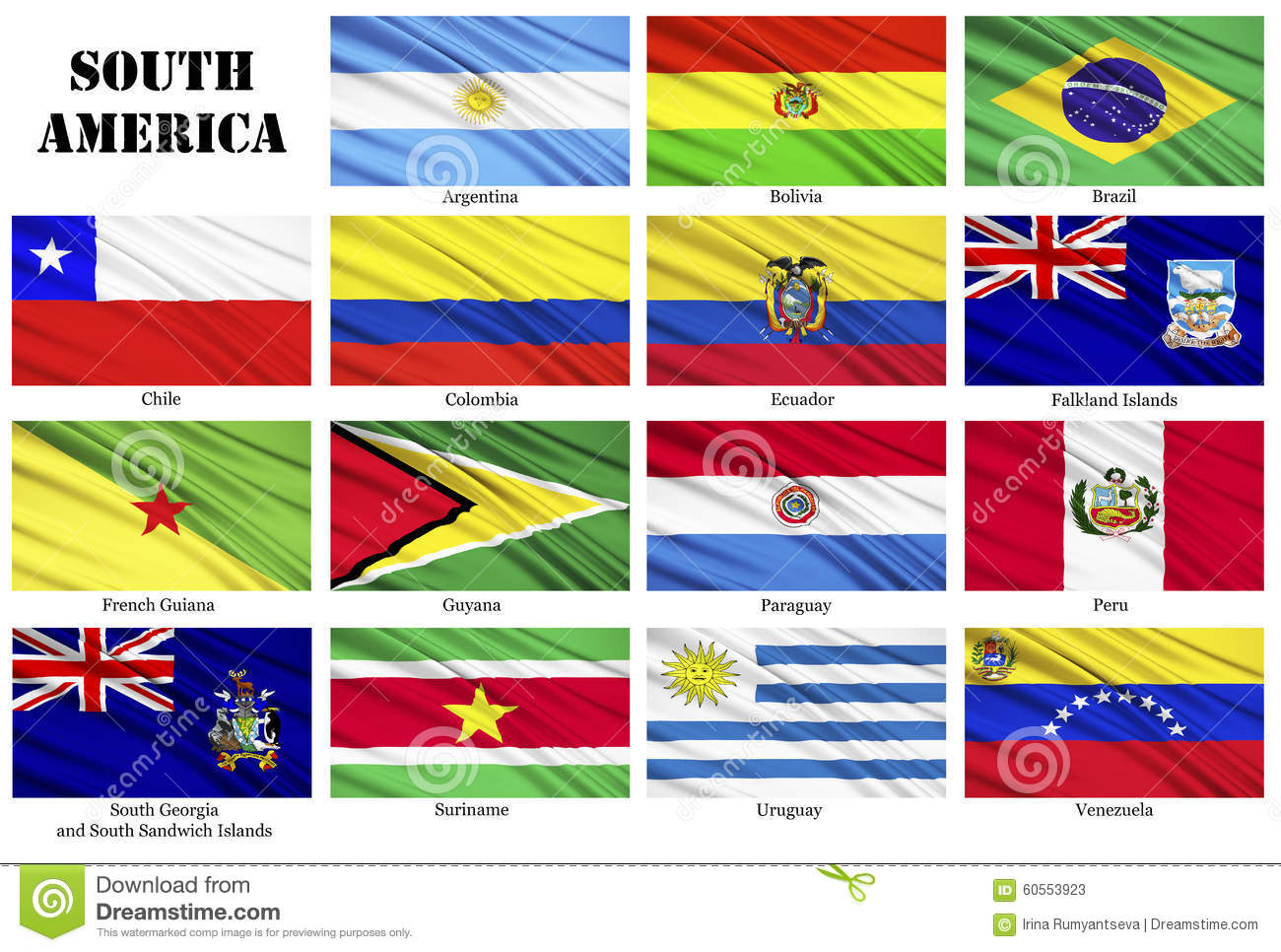 set of flags of south american countries in alphabetical order set of flags of south american countries in alphabetical order stock photos