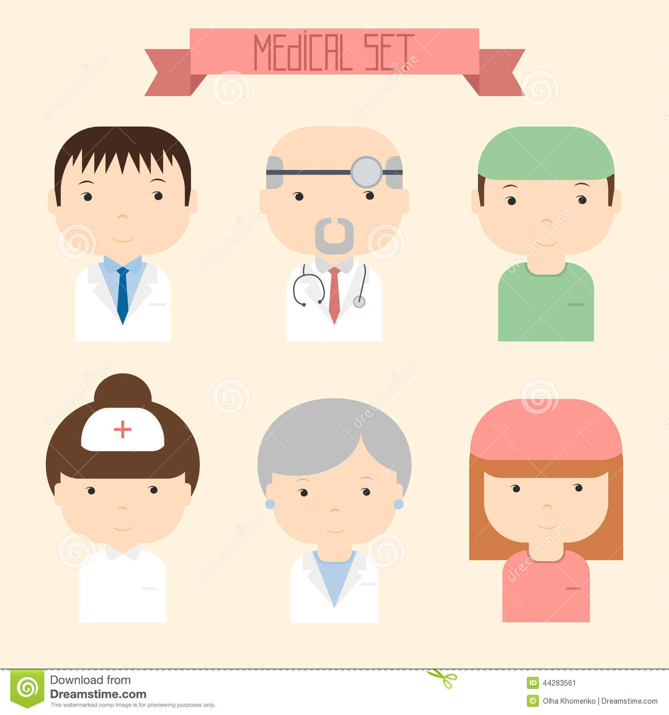 ... Colorful Vector Doctor Icons. Medical Stock Vector - Image: 44283561