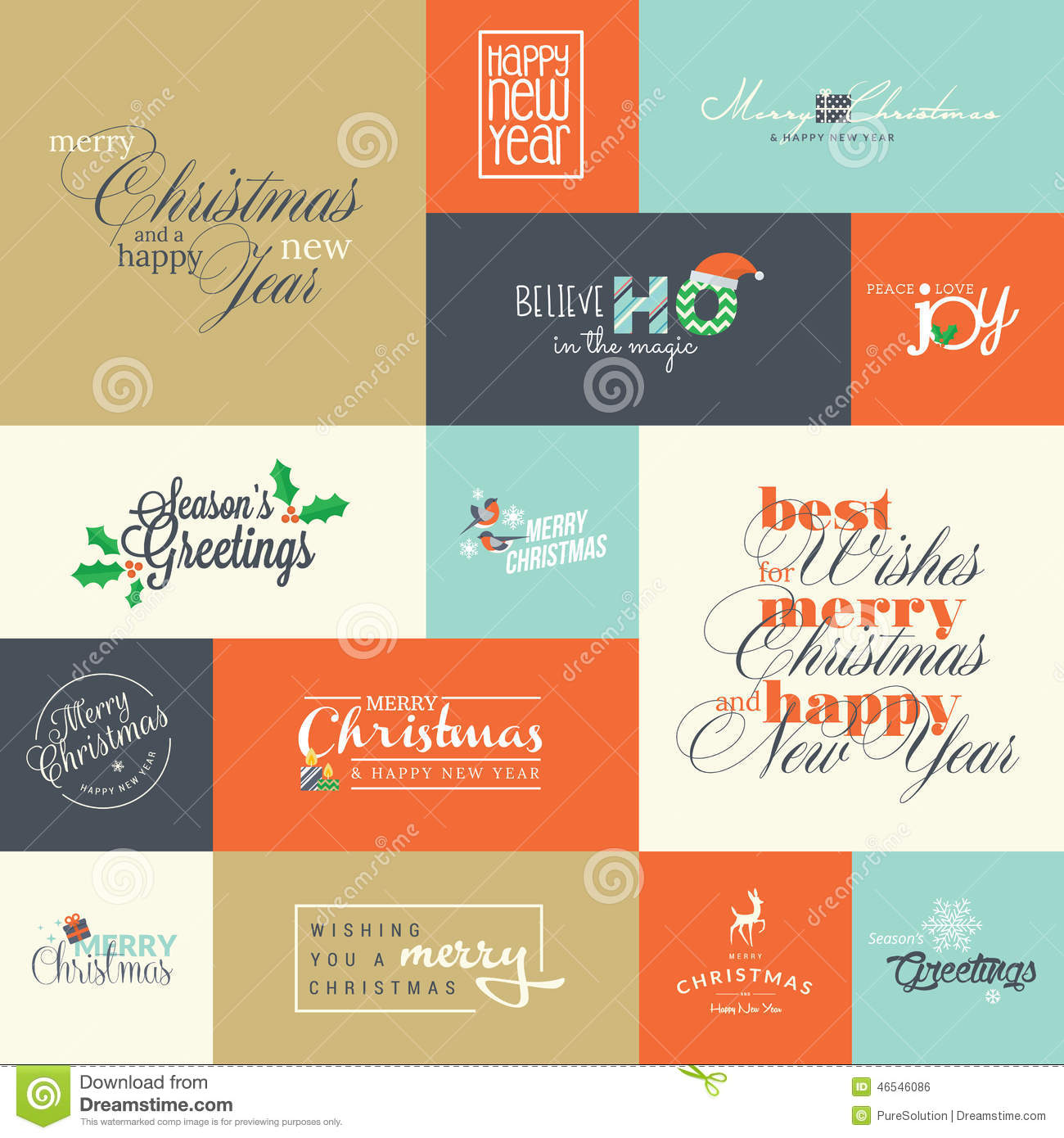 Set of flat design elements for christmas and new year greeting download set of flat design elements for christmas and new year greeting cards stock vector m4hsunfo