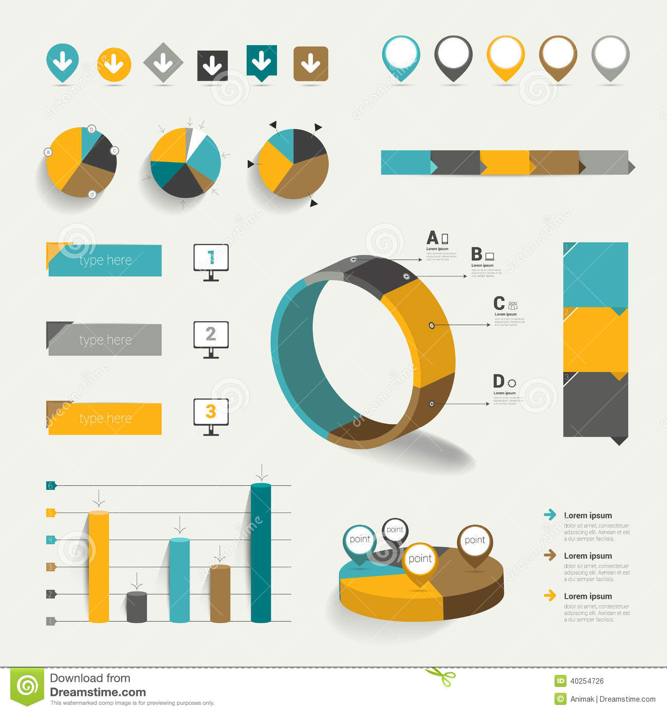 Pie Chart Icon Flat Pie charts and icons.