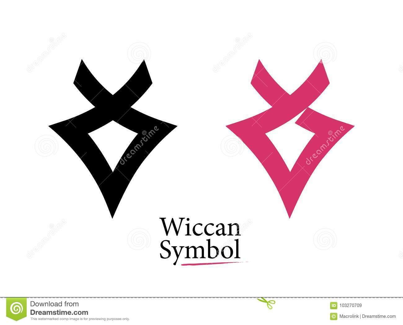 Set Of Flat Logos Style Wiccan Symbol Stock Vector Illustration