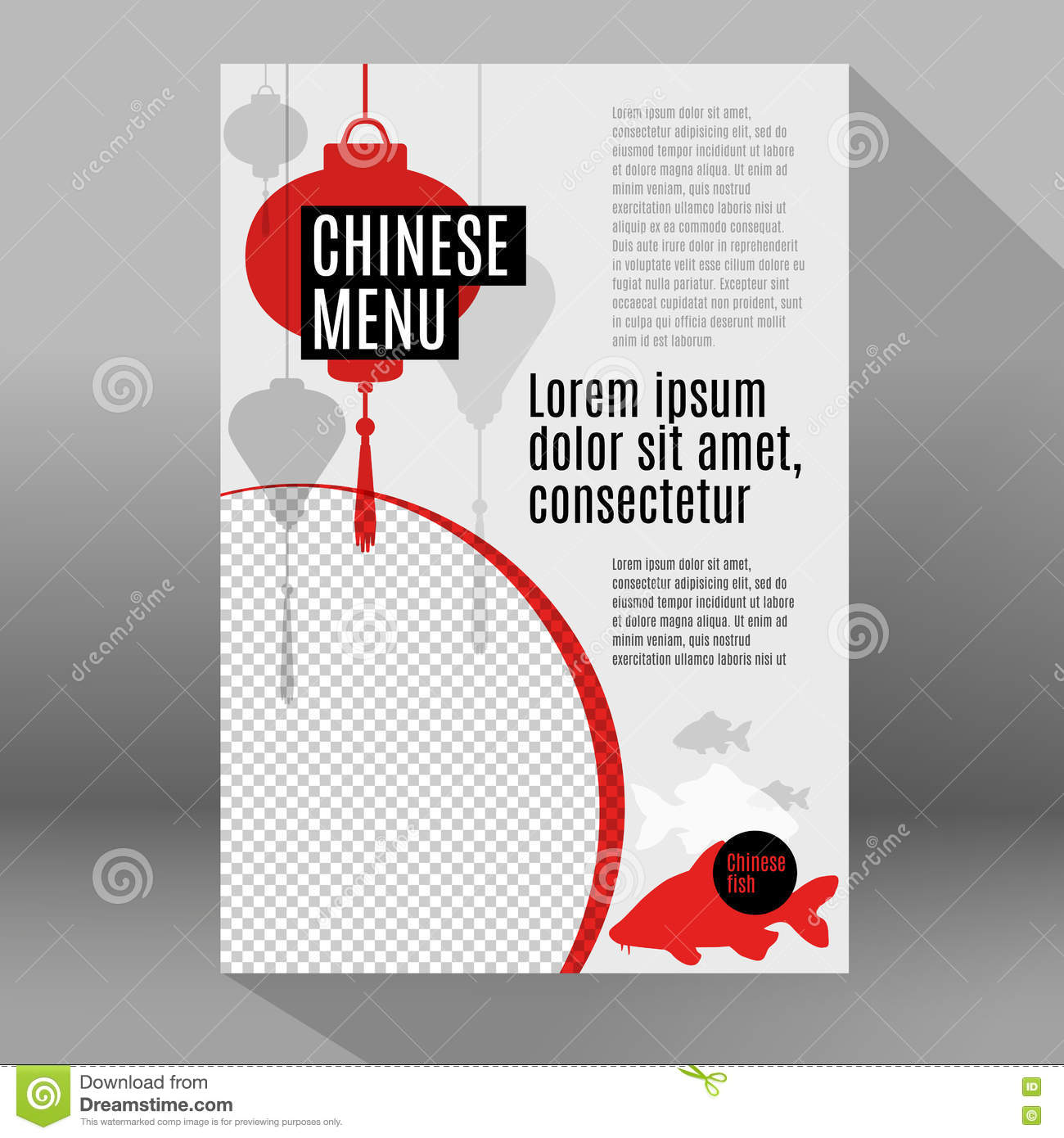 Elements of a poster design - Cafe Chinese Corporate Design Elements