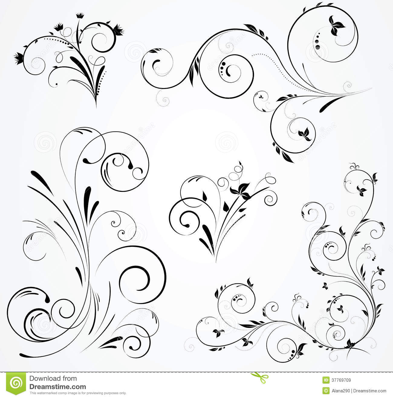 pin elegant swirl design elements royalty free stock photos tattoo on pinterest. Black Bedroom Furniture Sets. Home Design Ideas