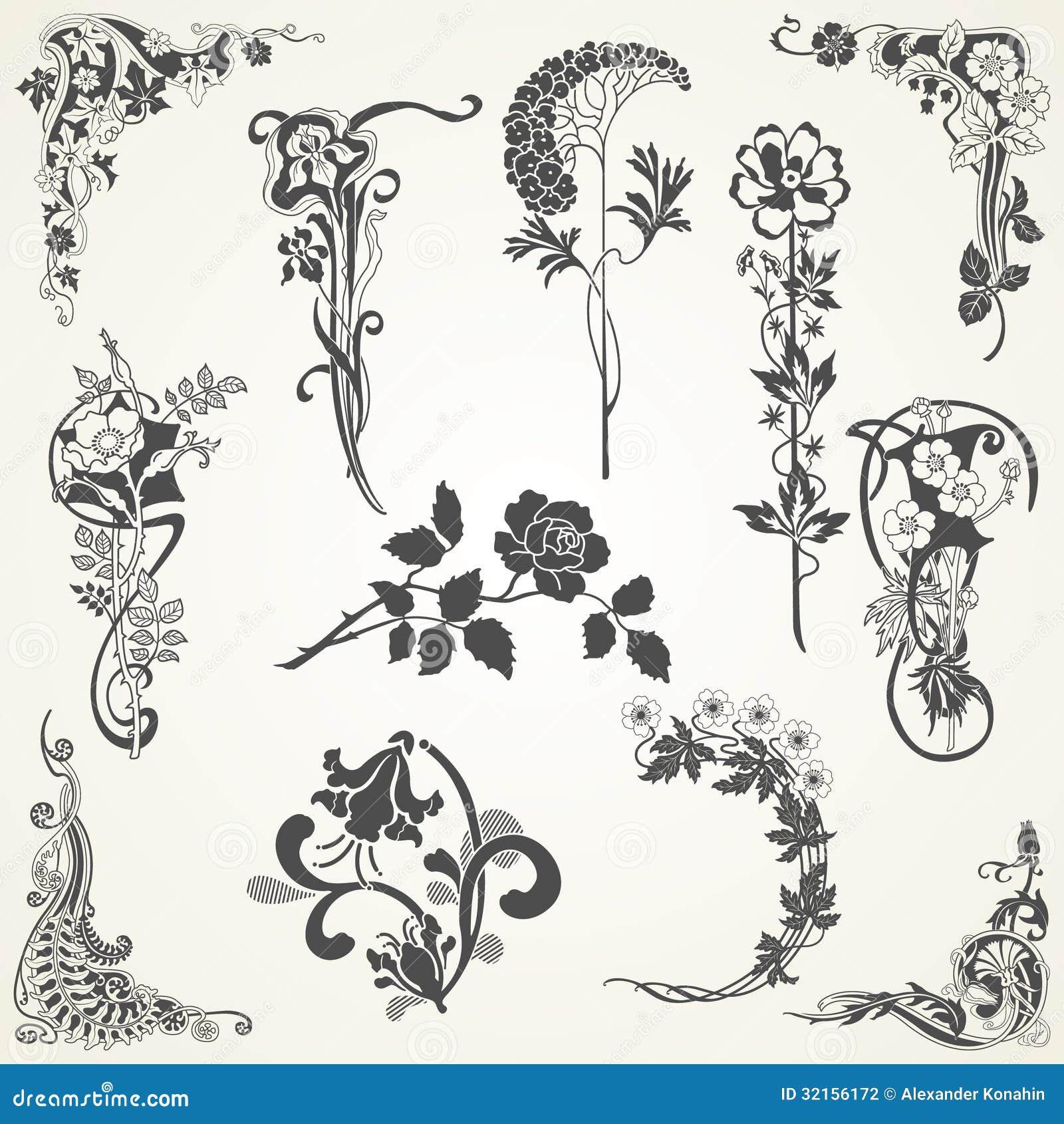 Vintage Flowers Vector