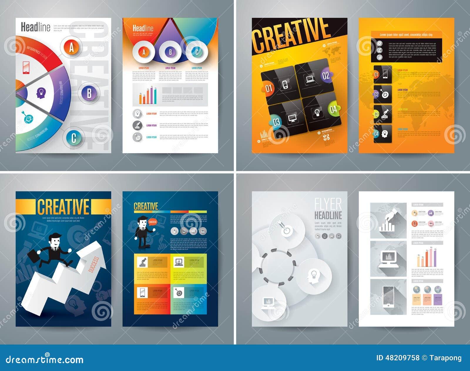 Set Of Flyer, Brochure Design Templates. Stock Illustration ...