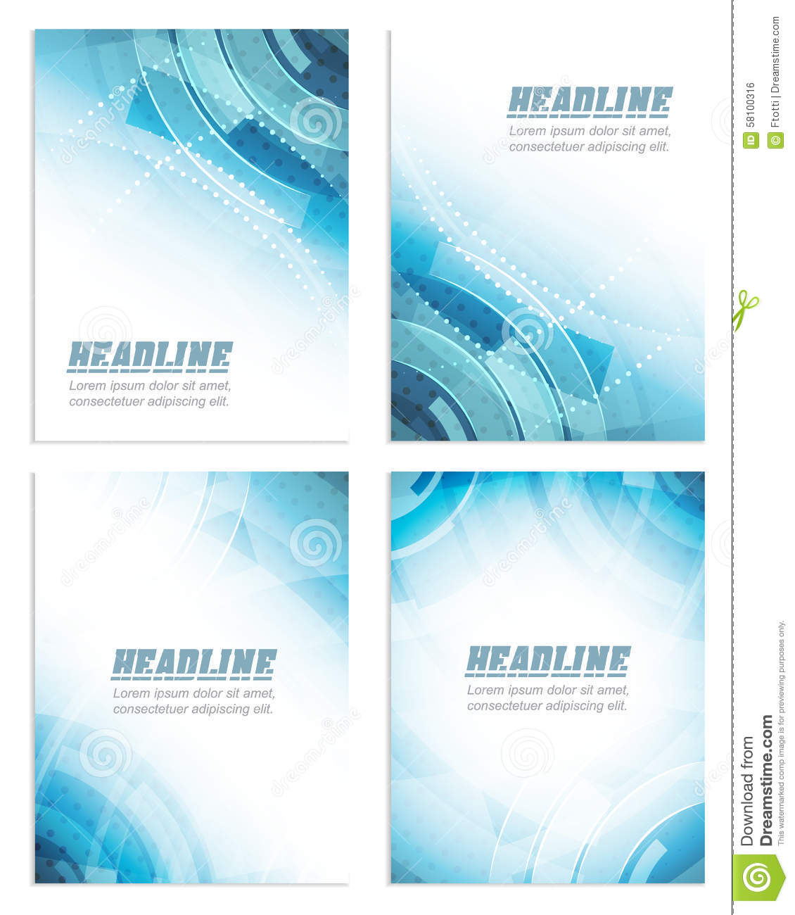 set of flyer or brochure template corporate banner abstract technology design stock vector. Black Bedroom Furniture Sets. Home Design Ideas