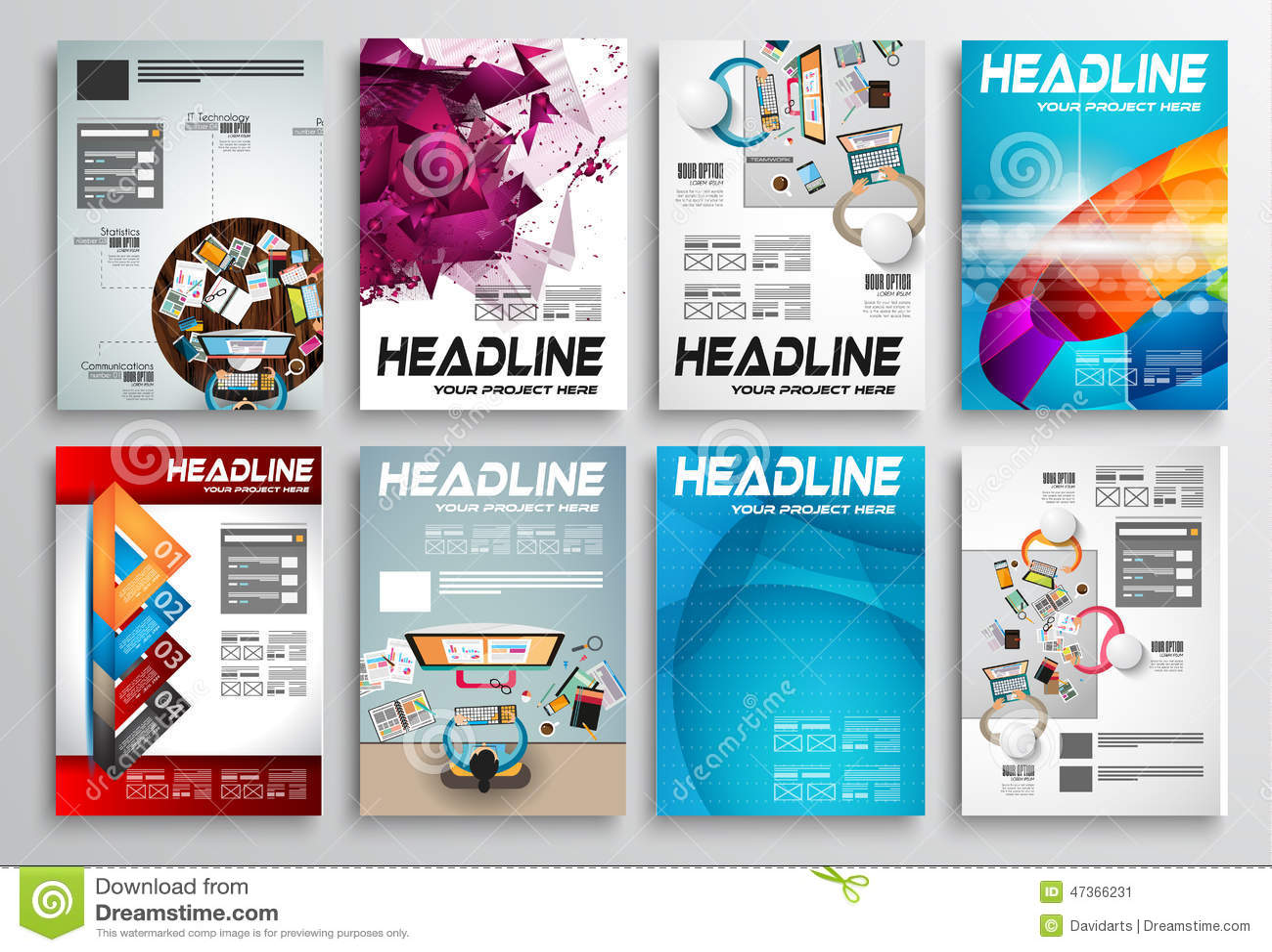 infographic brochure template - set of flyer design infographic layout brochure designs