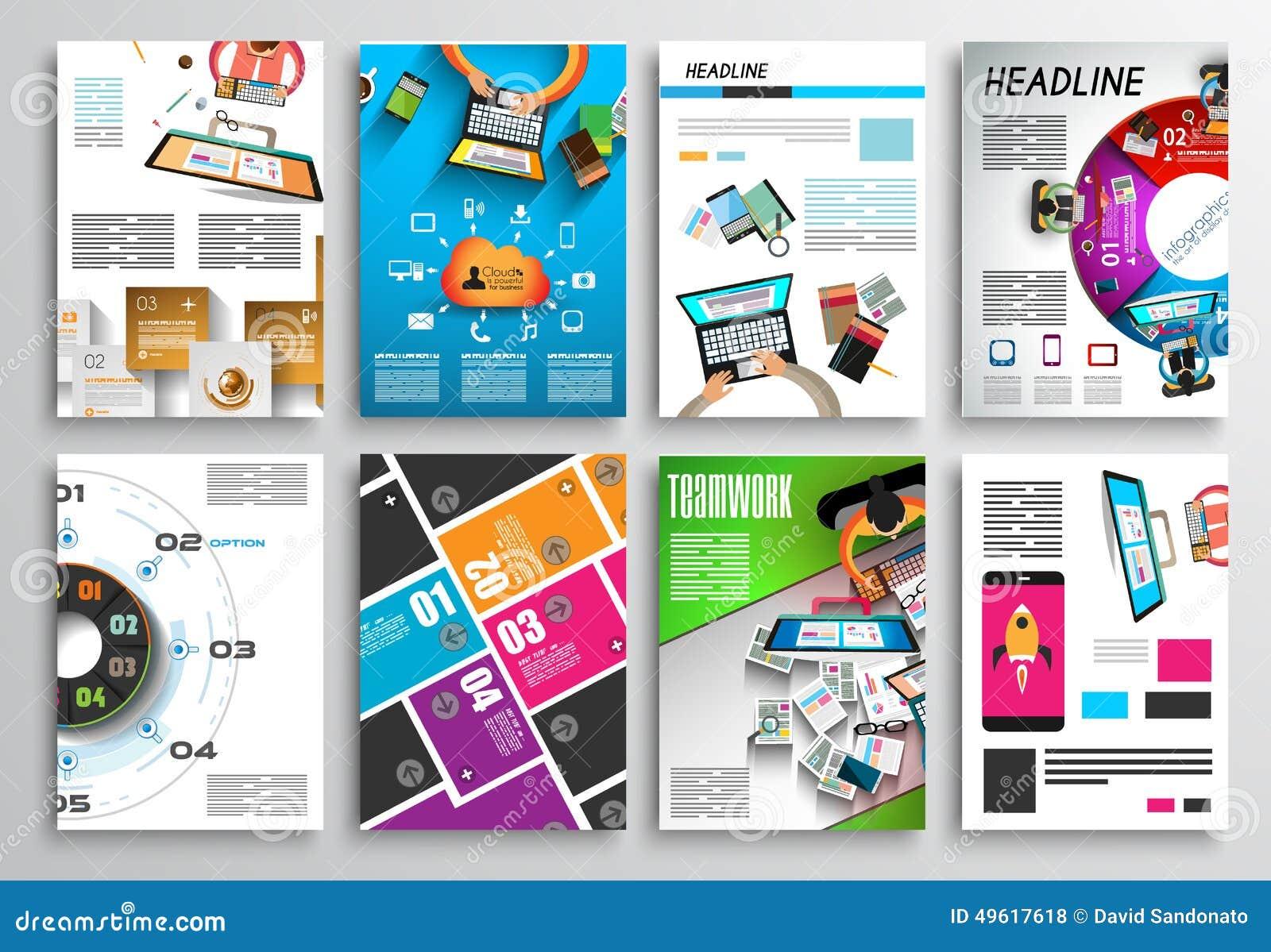 Set Of Flyer Design Infographics Brochure Designs