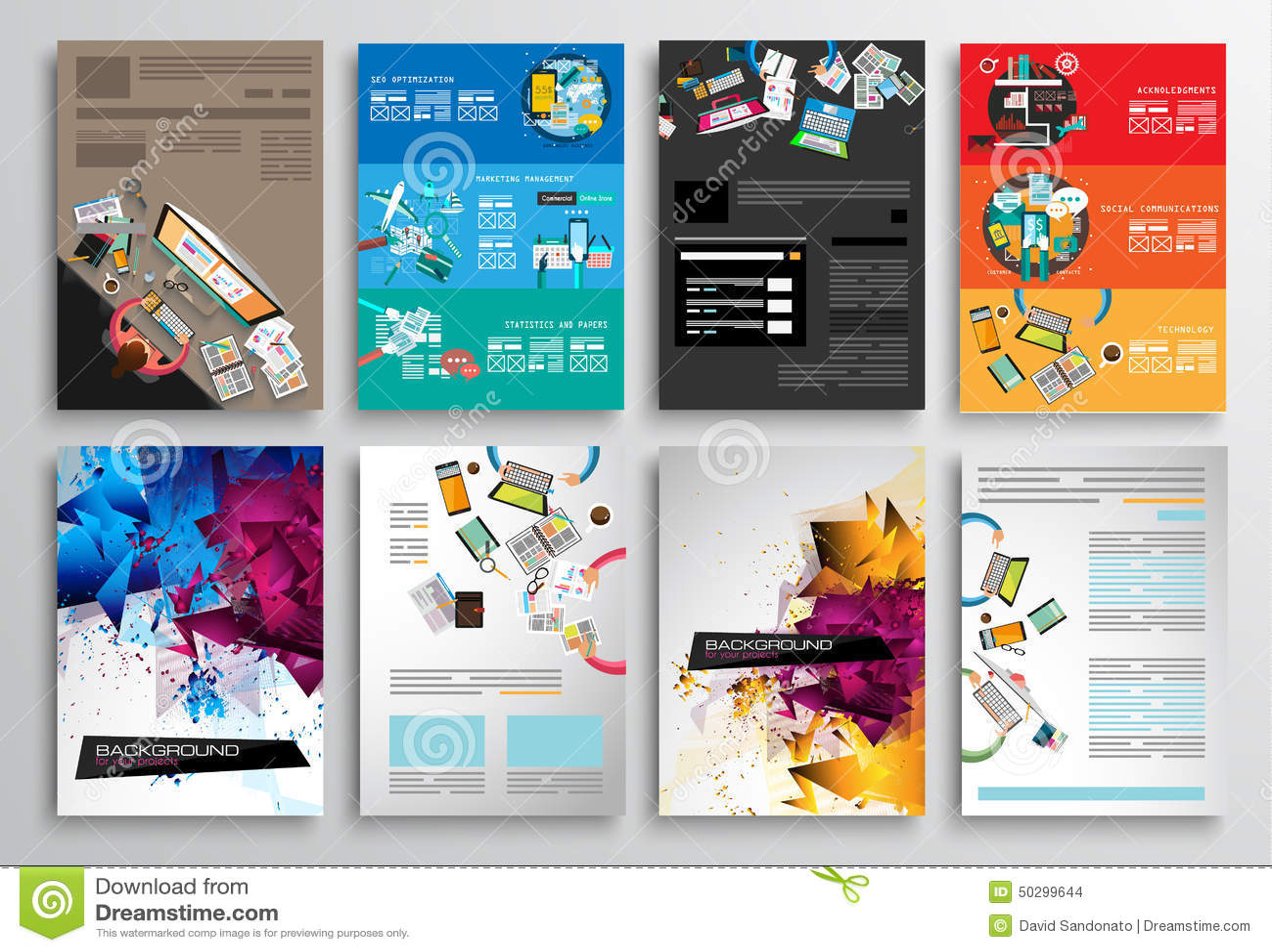 Set of flyer design web templates brochure designs for Brochure website templates