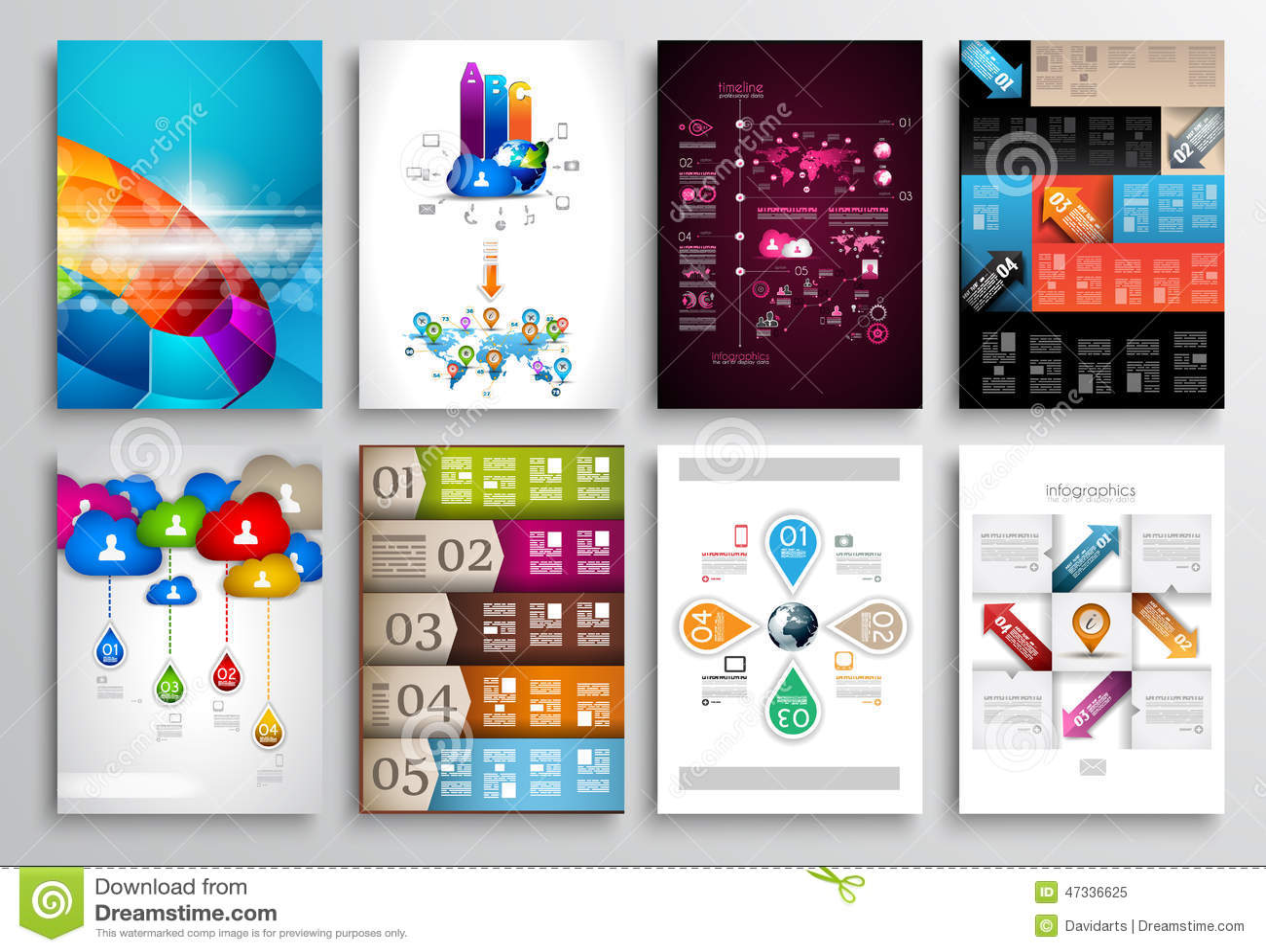 Set Of Flyer Design Web Templates Brochure Designs Vector – Web Flyer
