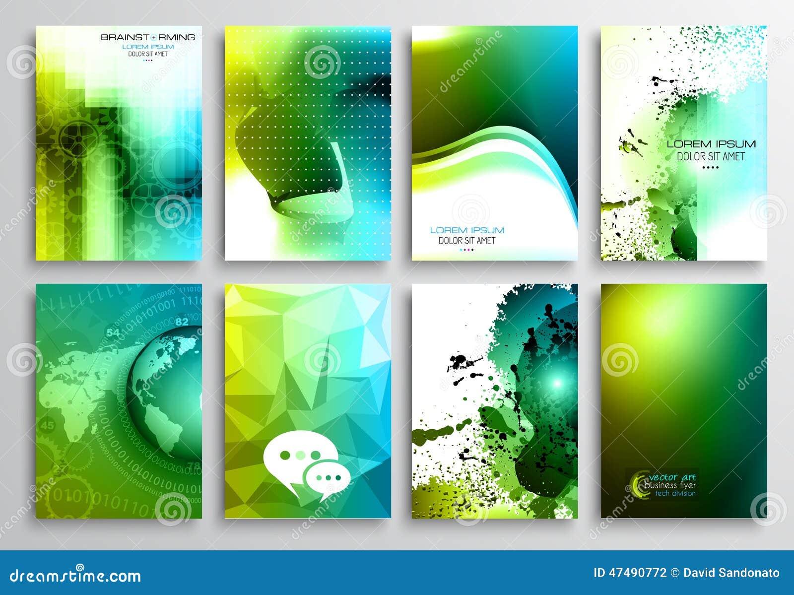 Set Of Flyer Design, Web Templates. Brochure Designs Stock Vector ...