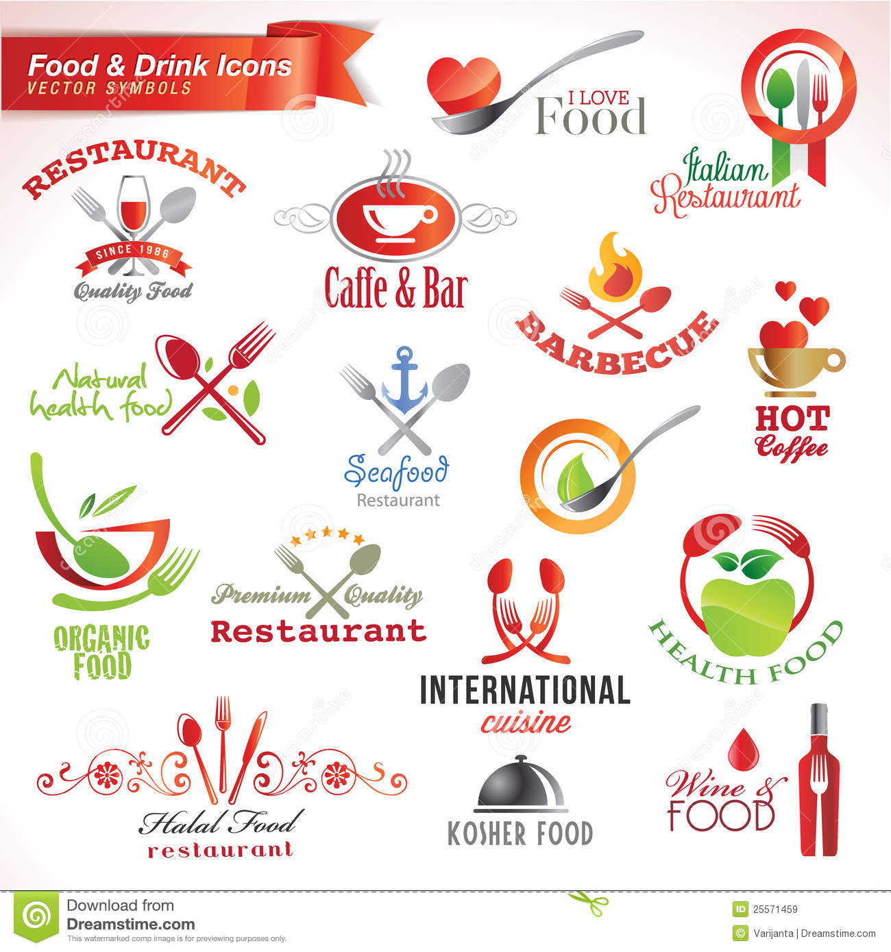 drink icons food preview