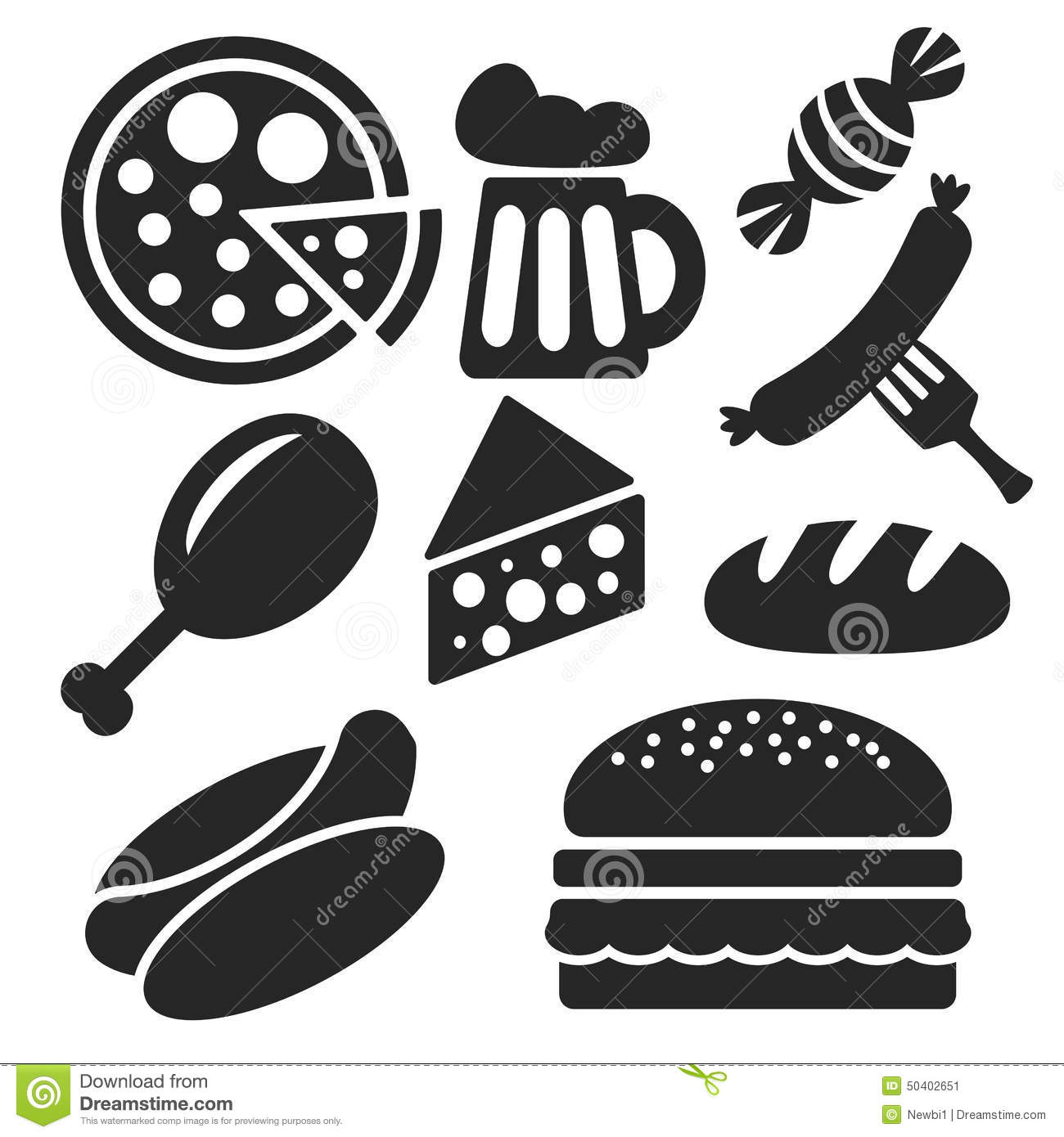 Set Of Food Web And Mobile Icons Vector Stock Vector