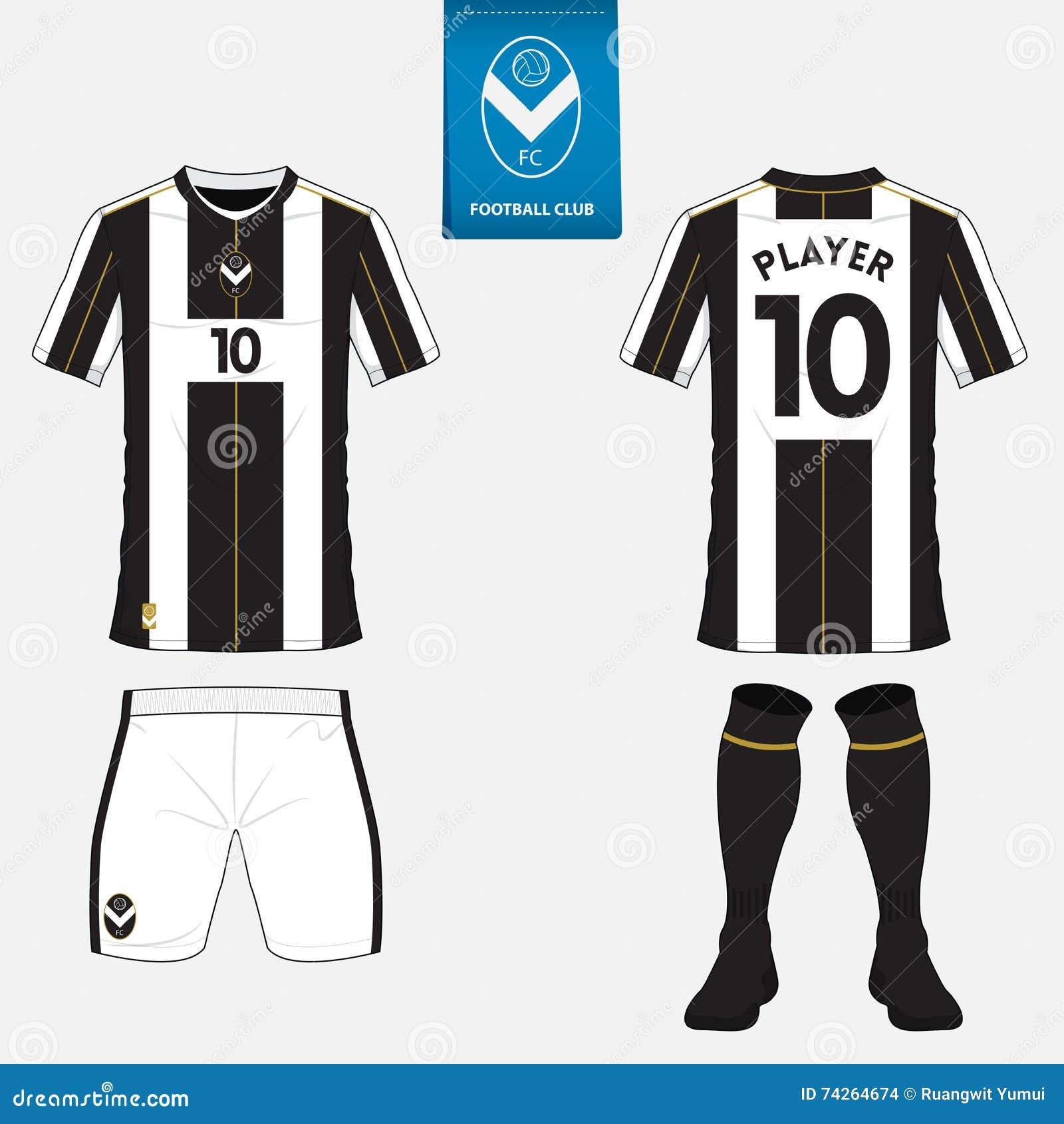 Set Of Football Jersey Soccer Kit Football Apparel Mock