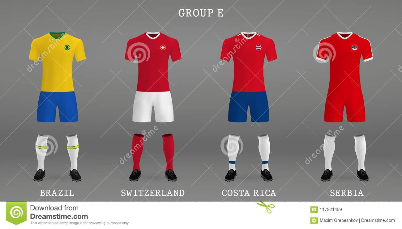 9ae4d80fcad Set of football kit, shirt template for soccer jersey. Vector illustration.  More similar stock illustrations