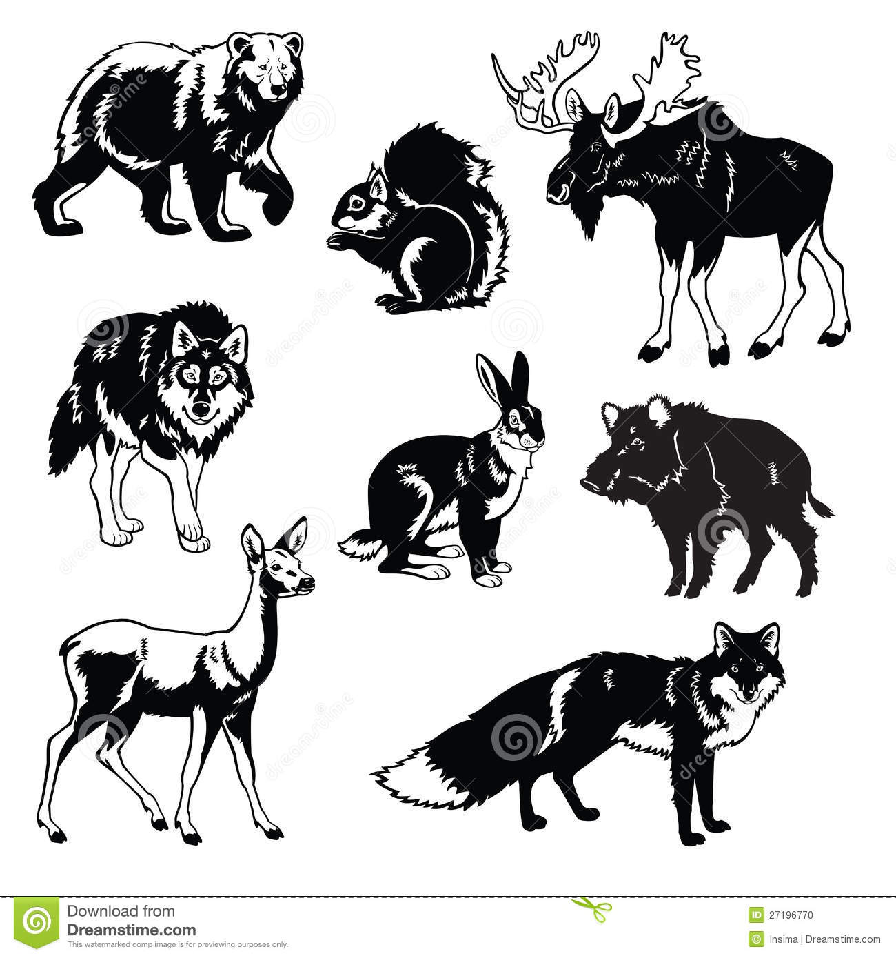 Set Of Forest Animals ...