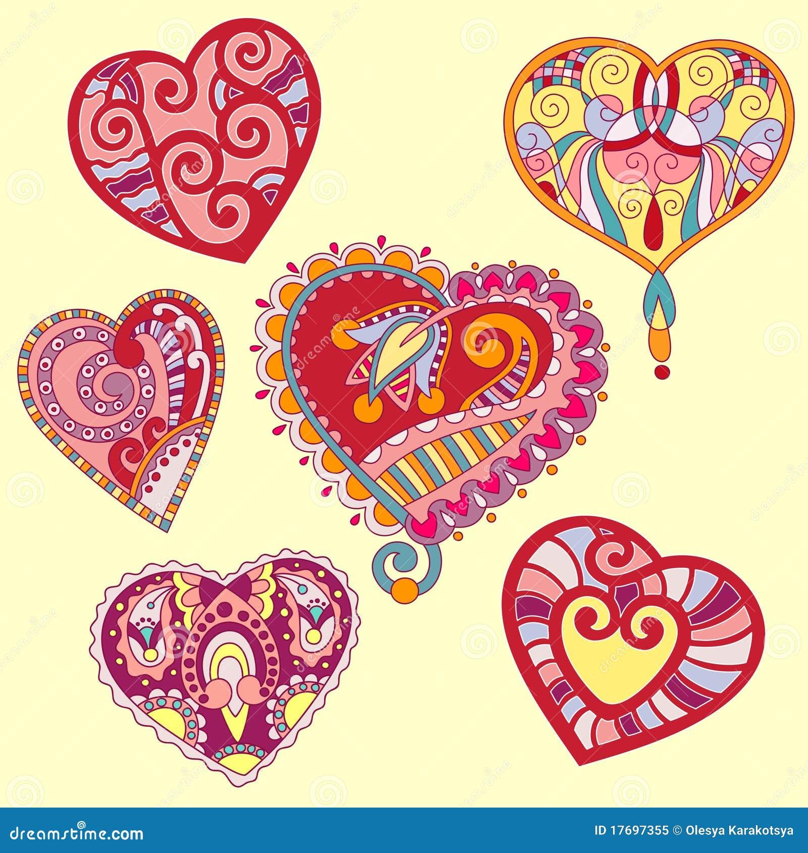 Set form för hjärta