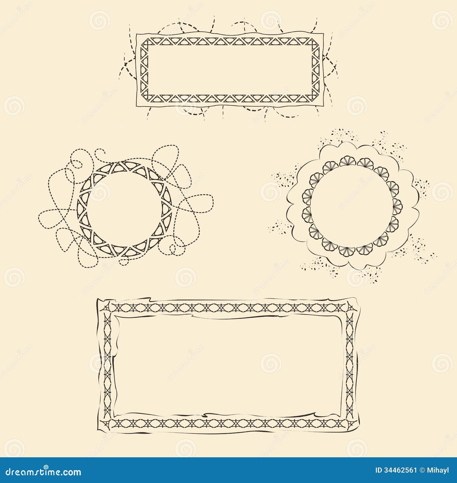 Set of Four Frames stock vector. Illustration of blank - 34462561