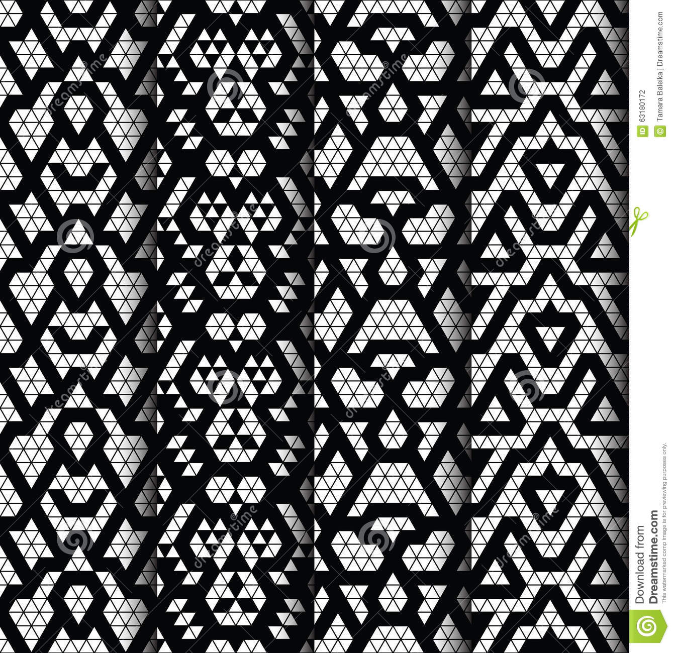 Set Of Four Patterns Stock Vector Image 63180172