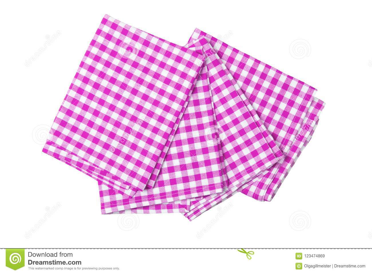 Set Of Four Purple And White Checkered Napkins. Kitchen ...