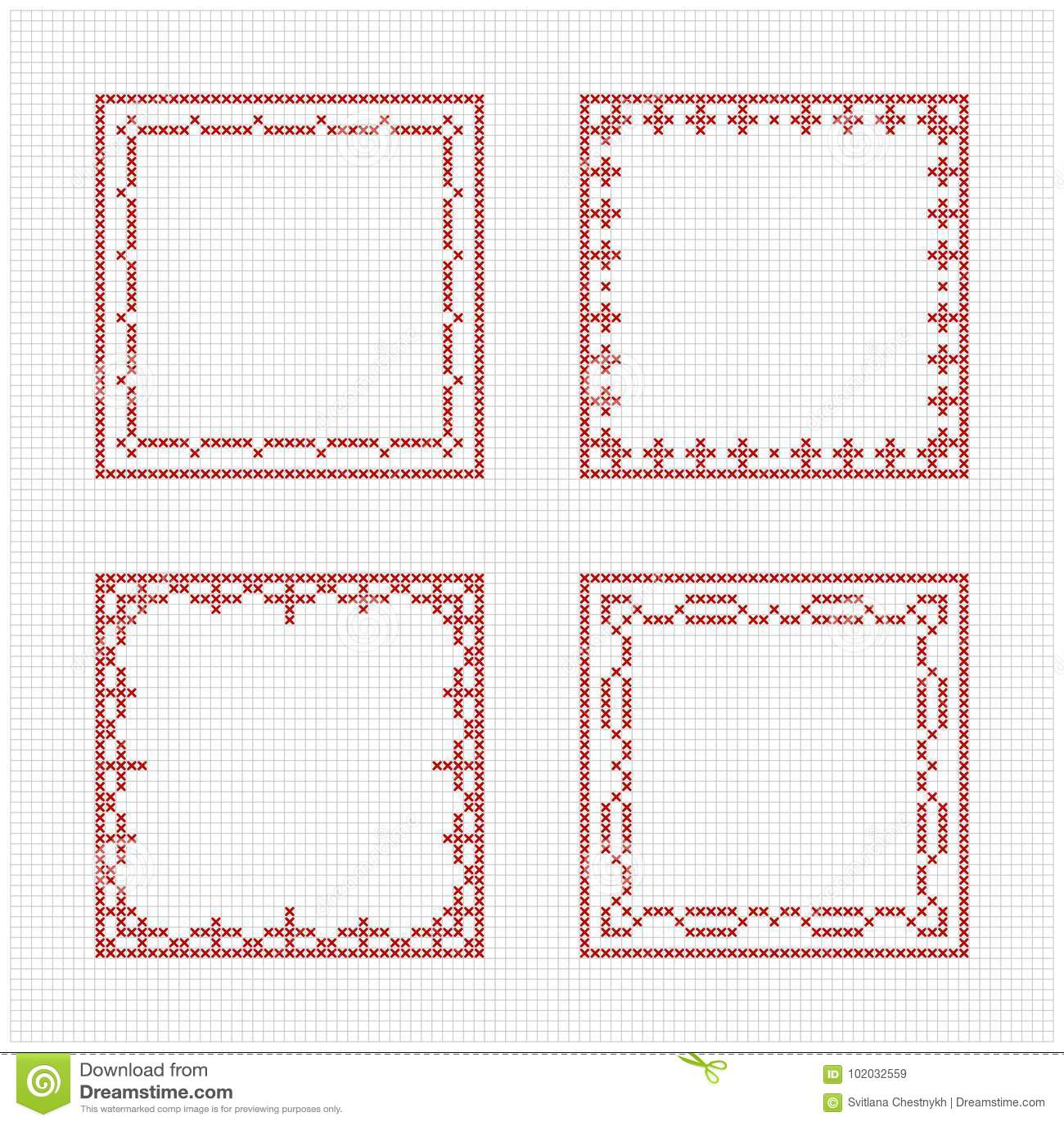 Scandinavian Style Cross Stitch Pattern Stock Illustration ...