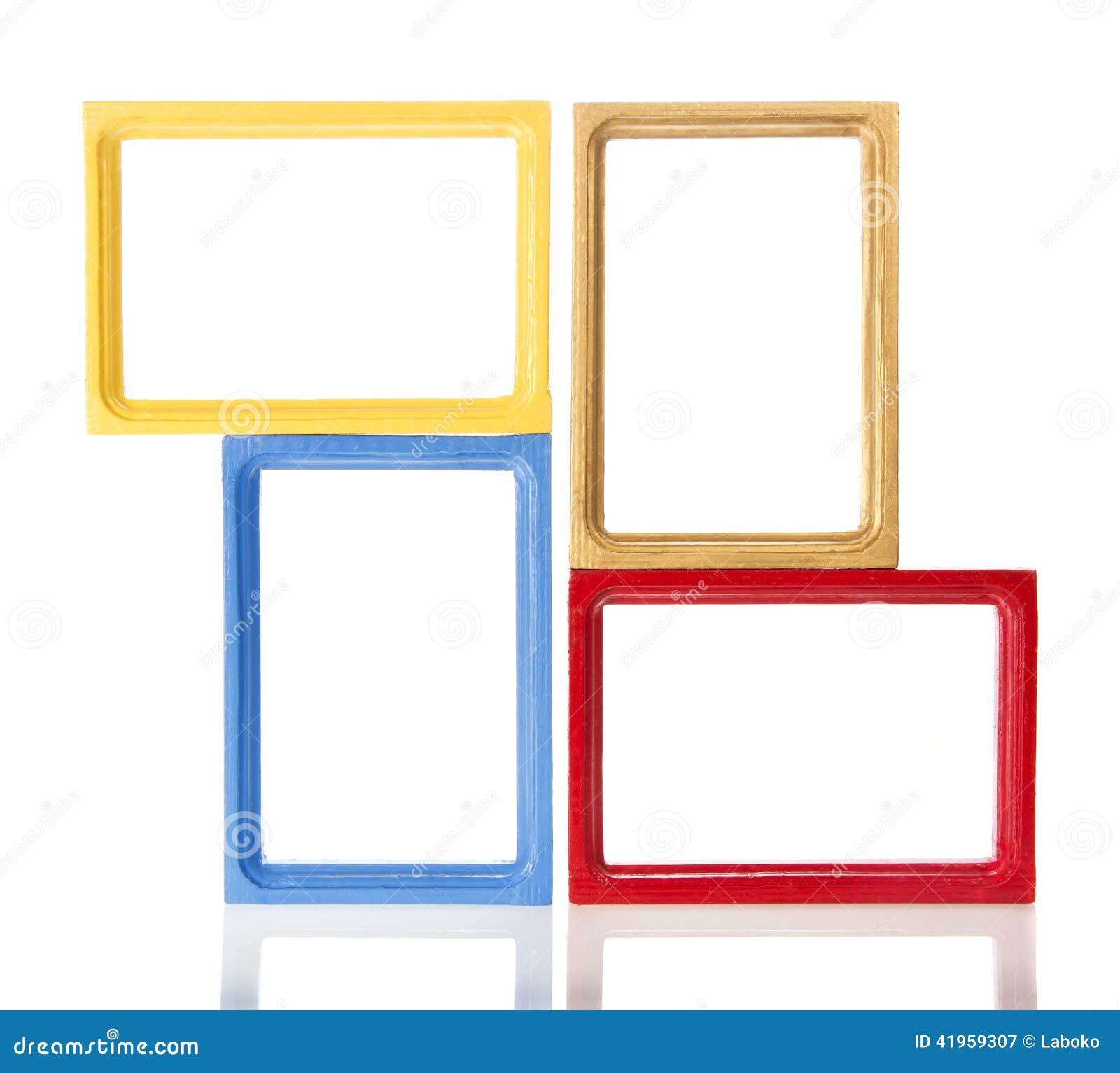 Set of four wooden framework for photo