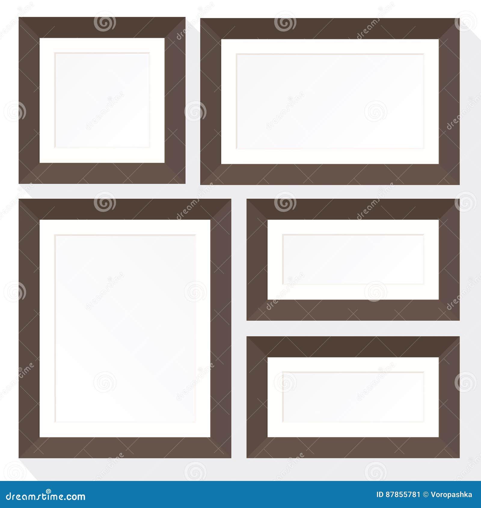 Set frame mockup stock vector. Illustration of decoration - 87855781