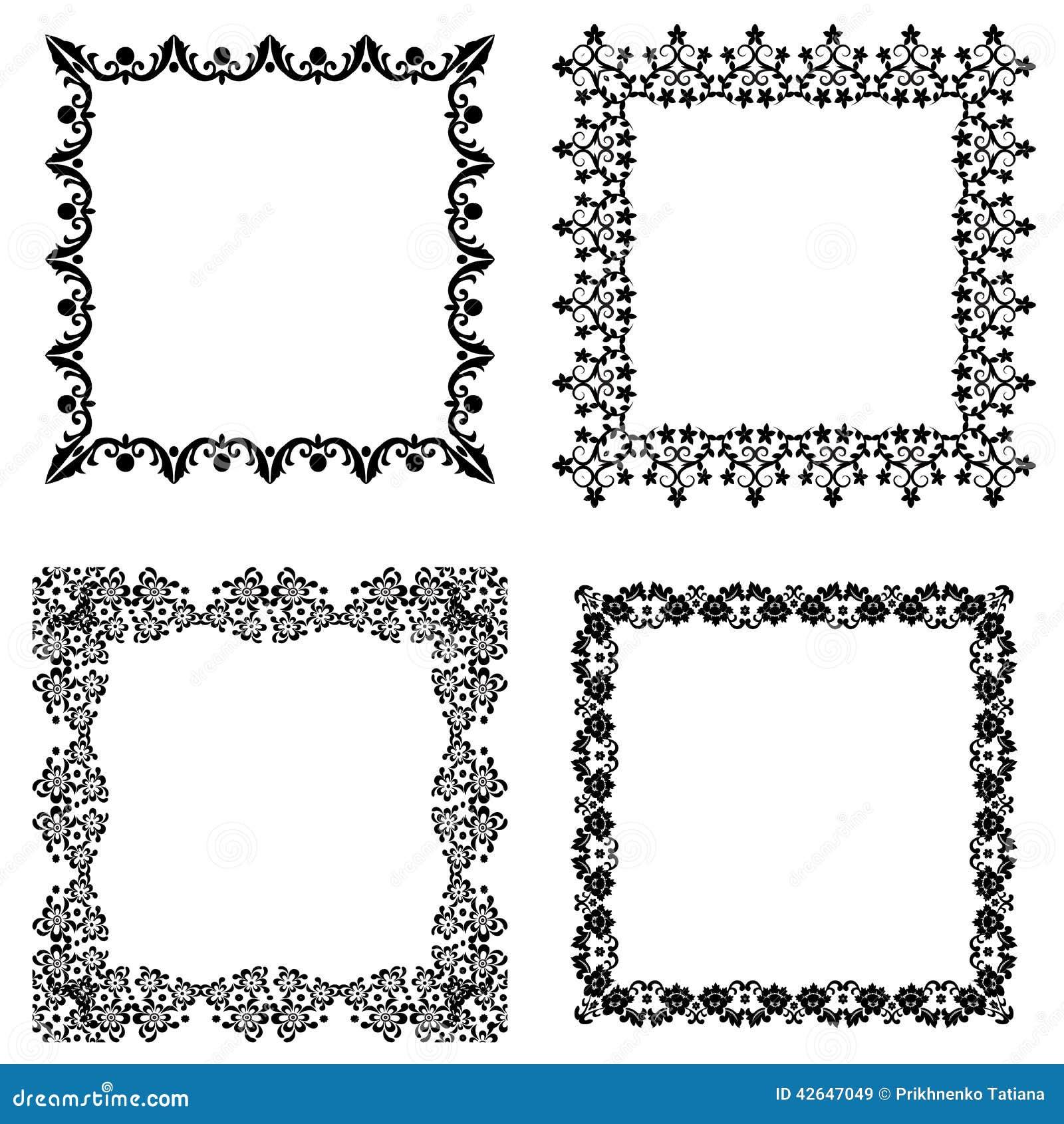 7d7a4d0796e Set frame stock vector. Illustration of black