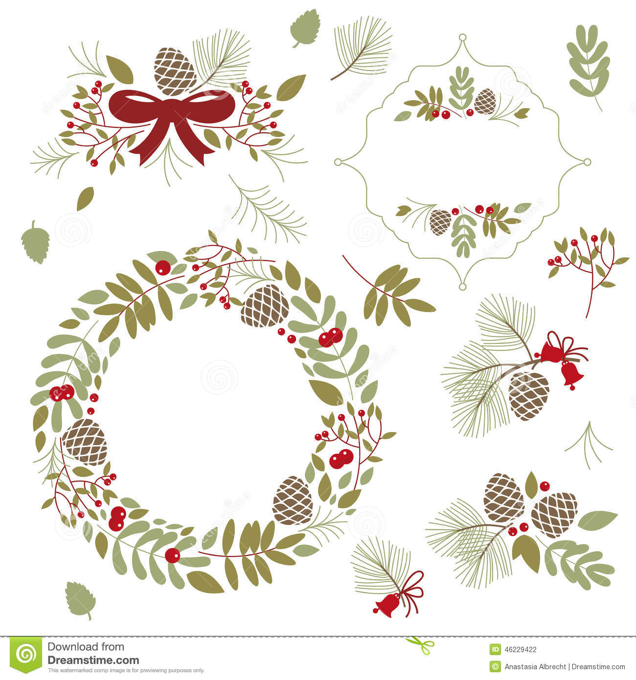 Set of frames and floral elements stock vector image 46229422 - Autumn plowing time all set for winter ...
