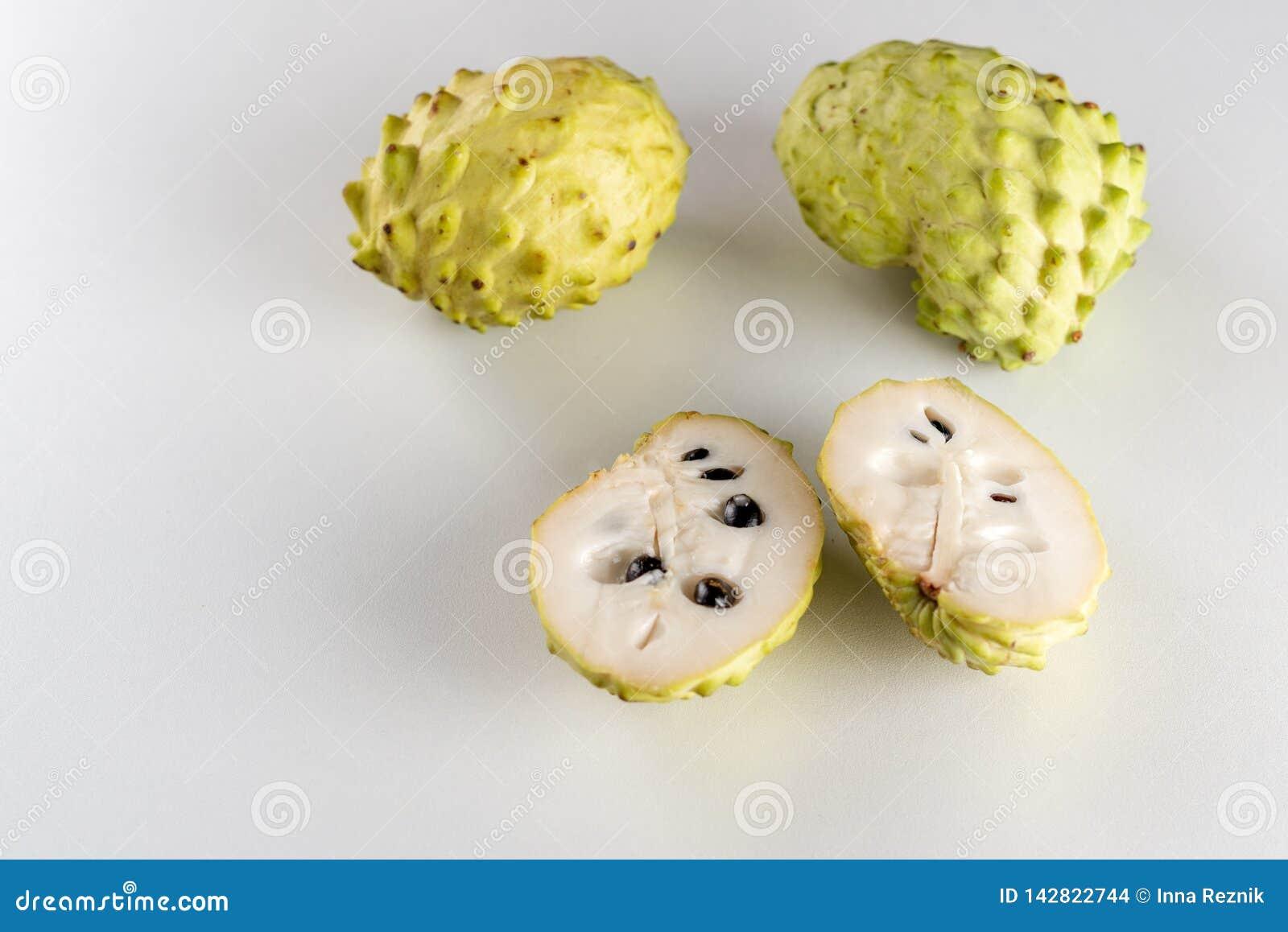 Set of Fresh Annona, Custard Apple, Cherimoya, Sugar Apple
