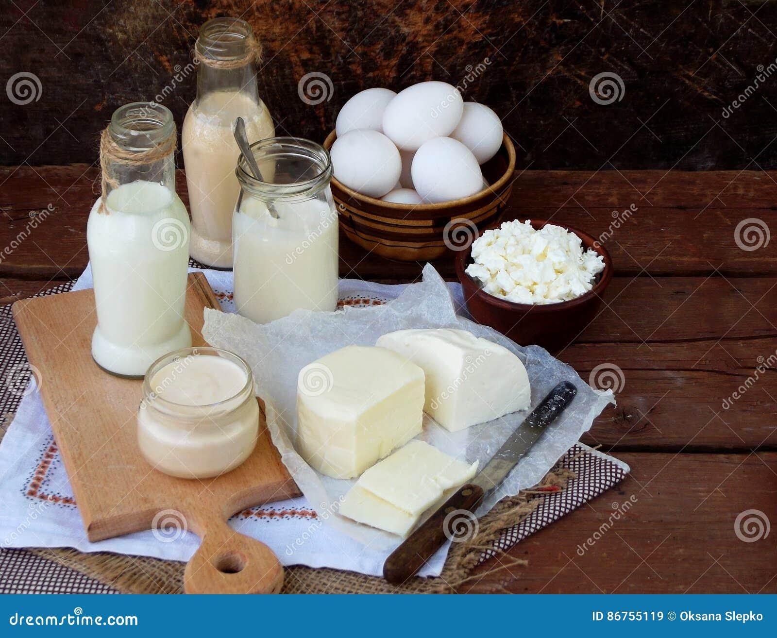 Set Of Fresh Dairy Products Stock Image Cartoondealer