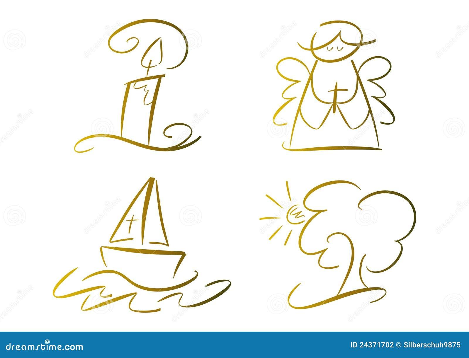set fromme symbole gold stockfotografie bild 24371702. Black Bedroom Furniture Sets. Home Design Ideas
