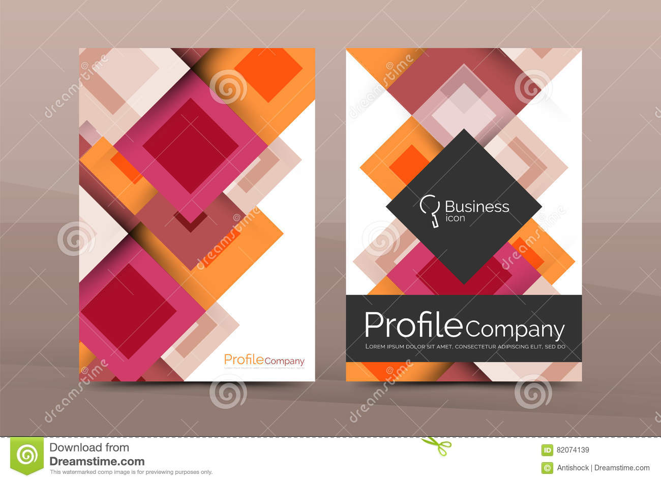 download set of front and back a4 size pages business annual report design templates stock