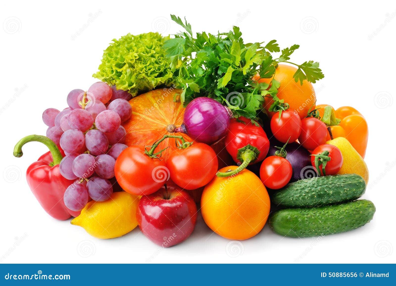 set of fruits and vegetables stock photo image 50885656. Black Bedroom Furniture Sets. Home Design Ideas