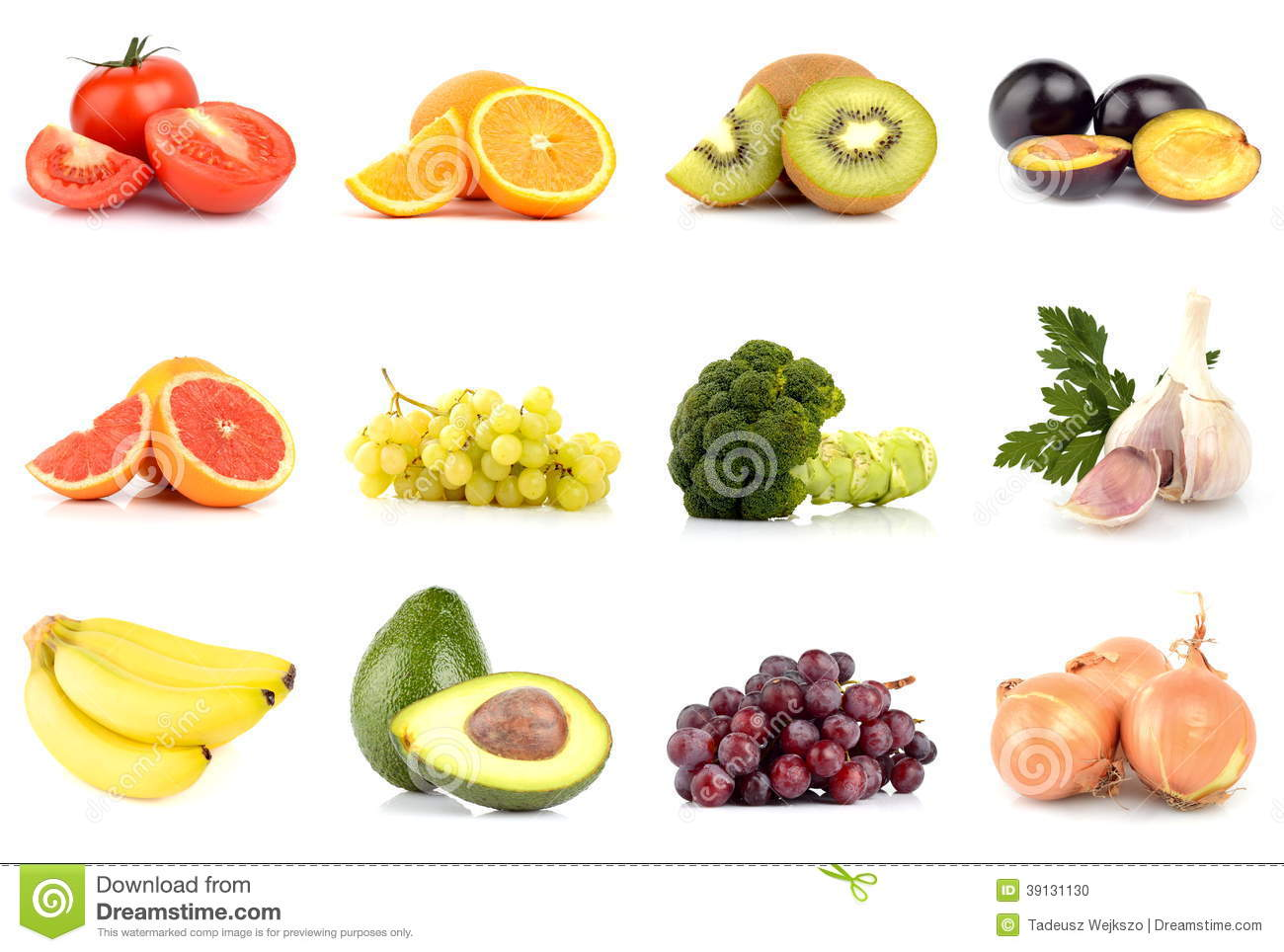 set of fruits and vegetables isolated on white stock photo image 39131130. Black Bedroom Furniture Sets. Home Design Ideas