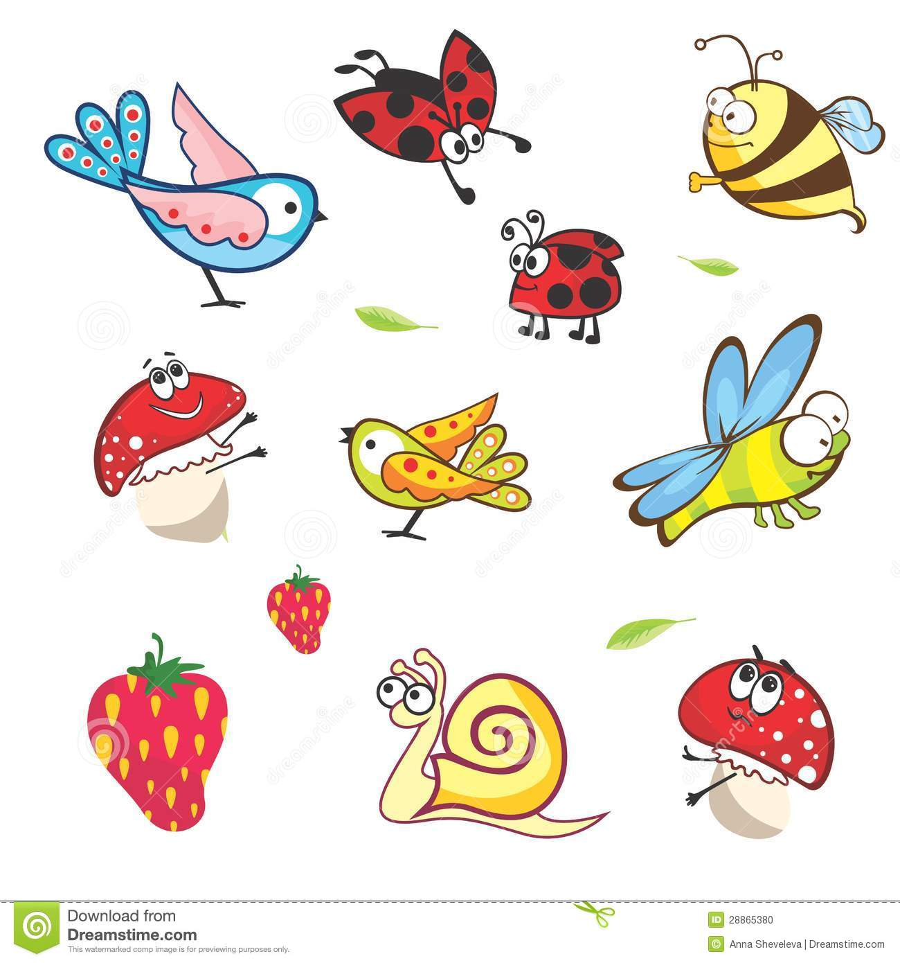 Set Of Funny Spring Animals For Babies Stock Photo - Image: 28865380