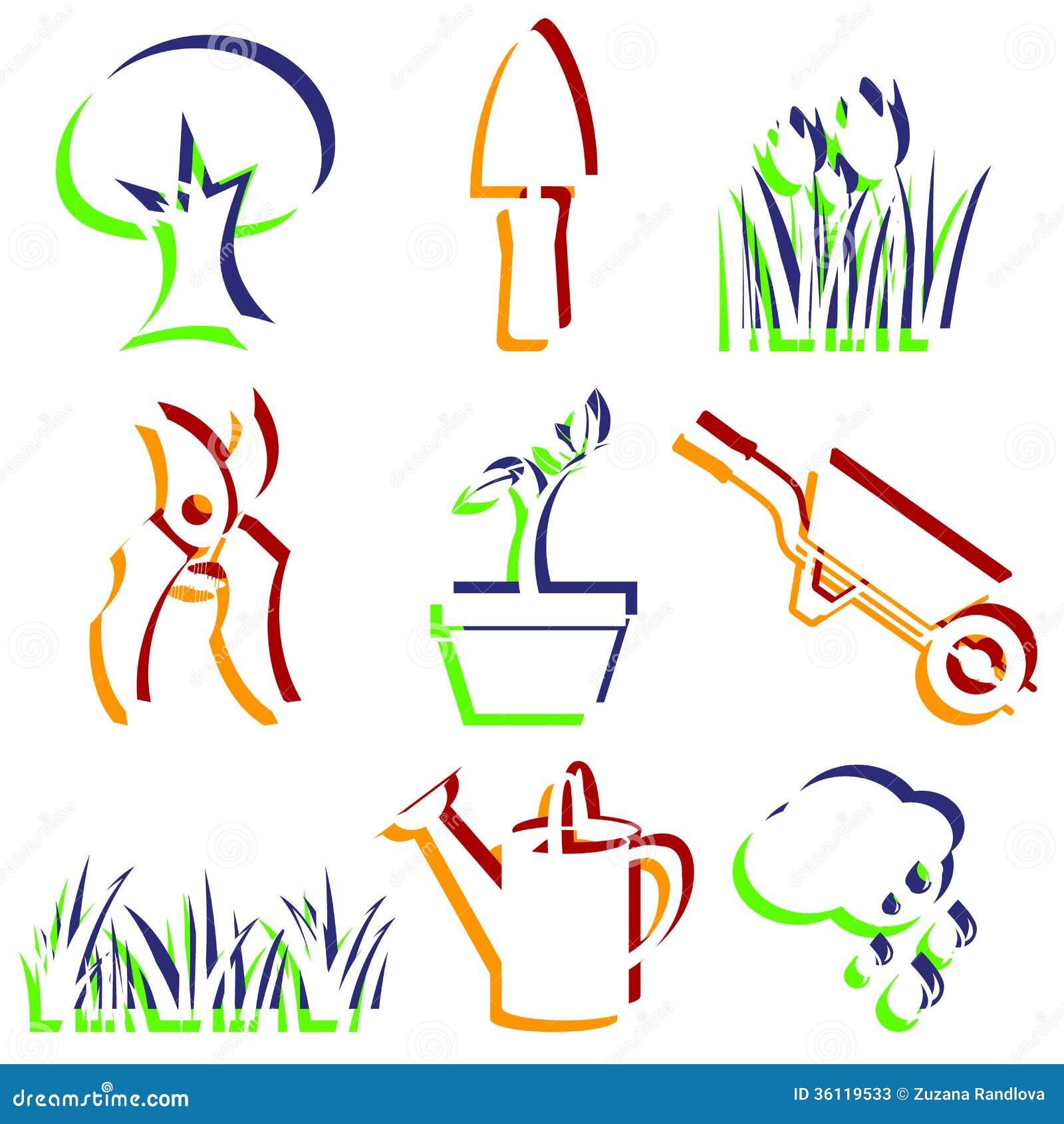Set Of Garden Icons Vector Illustration CartoonDealer