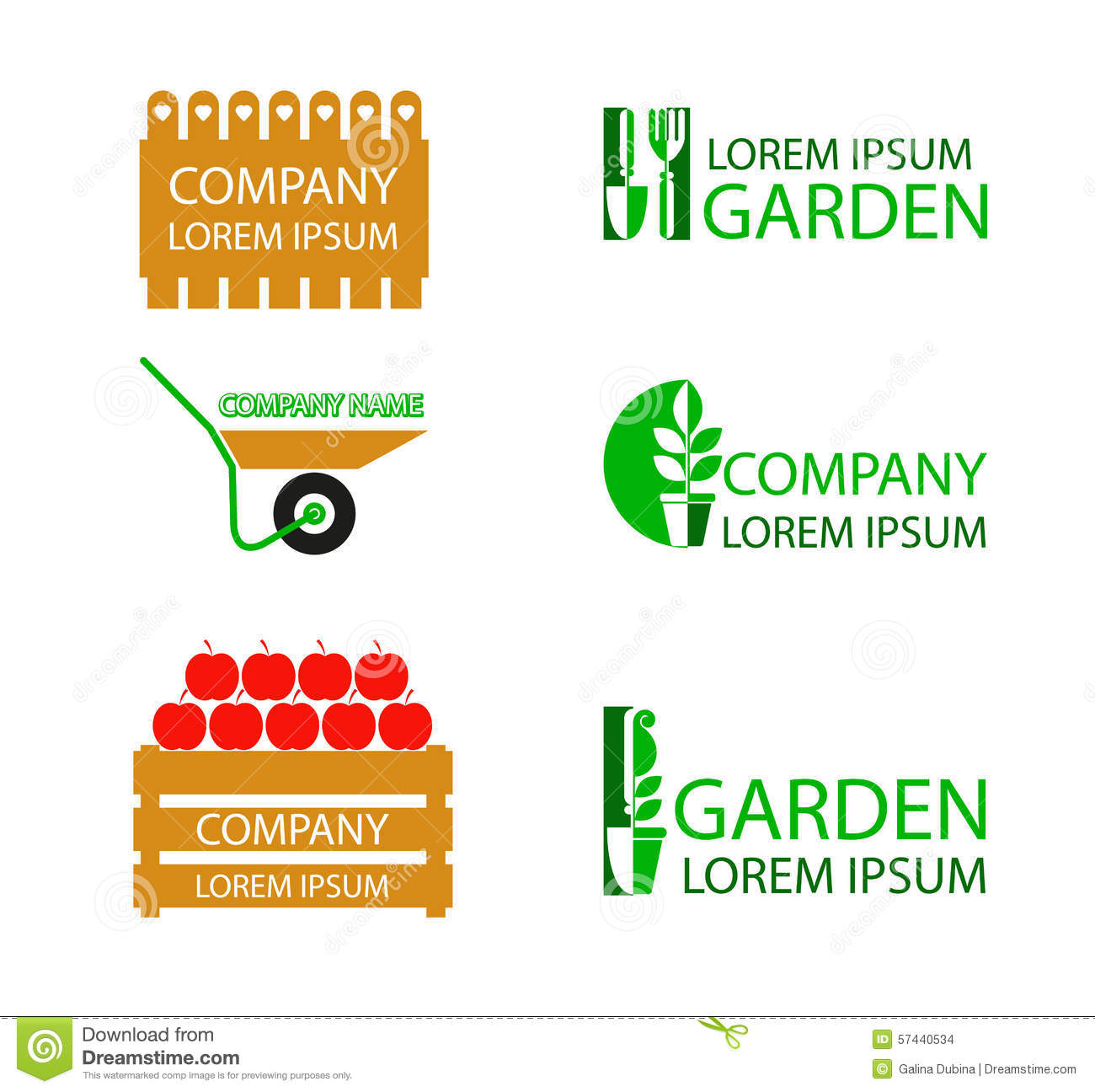 A Set Of Garden Logos Stock Images
