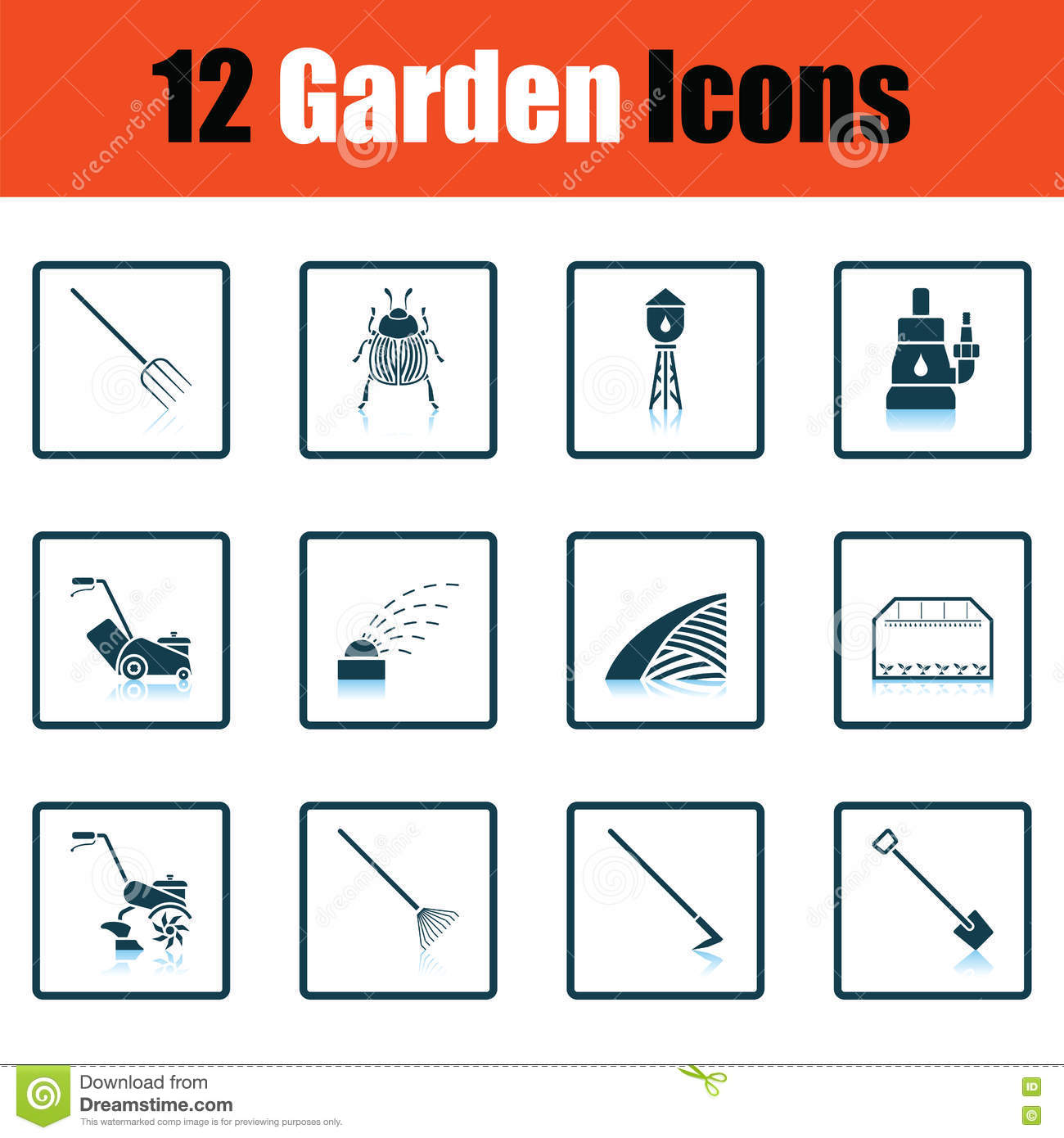 Lawn Mower Cartoons Illustrations Vector Stock Images