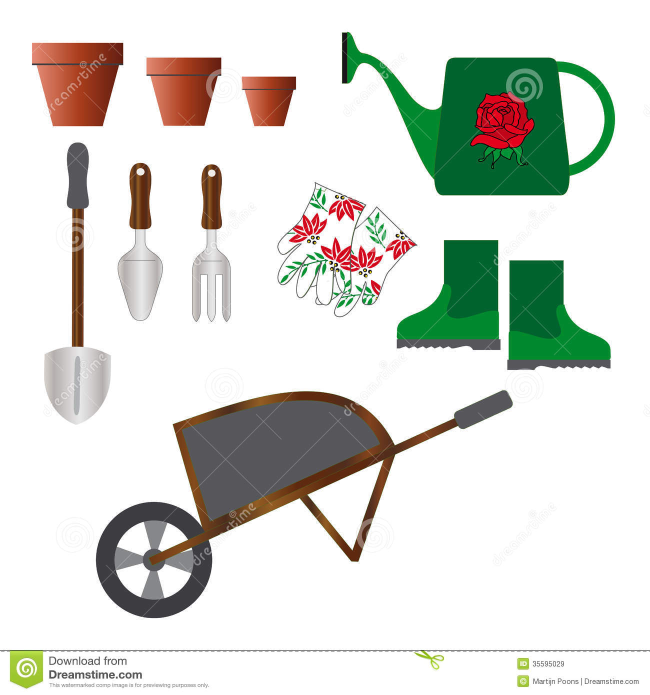 Set of gardening tools stock image image of spade for Tools and equipment in planting