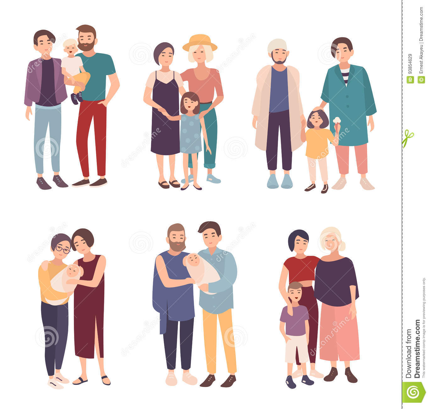 Gay Family vector images