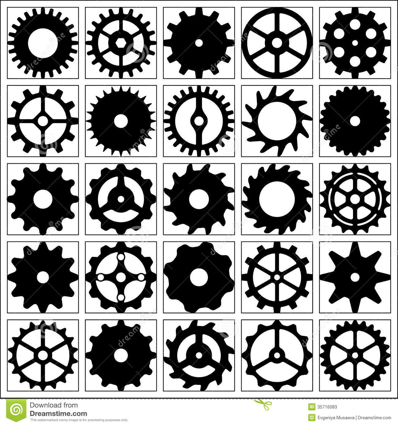 Set of gear wheels for desing. Set Of Gear Wheels For Desing  Stock Photos   Image  35716083