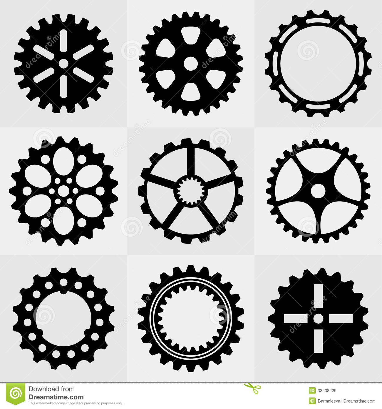 Set Of Gear Wheels Royalty Free Stock Images - Image: 33238229