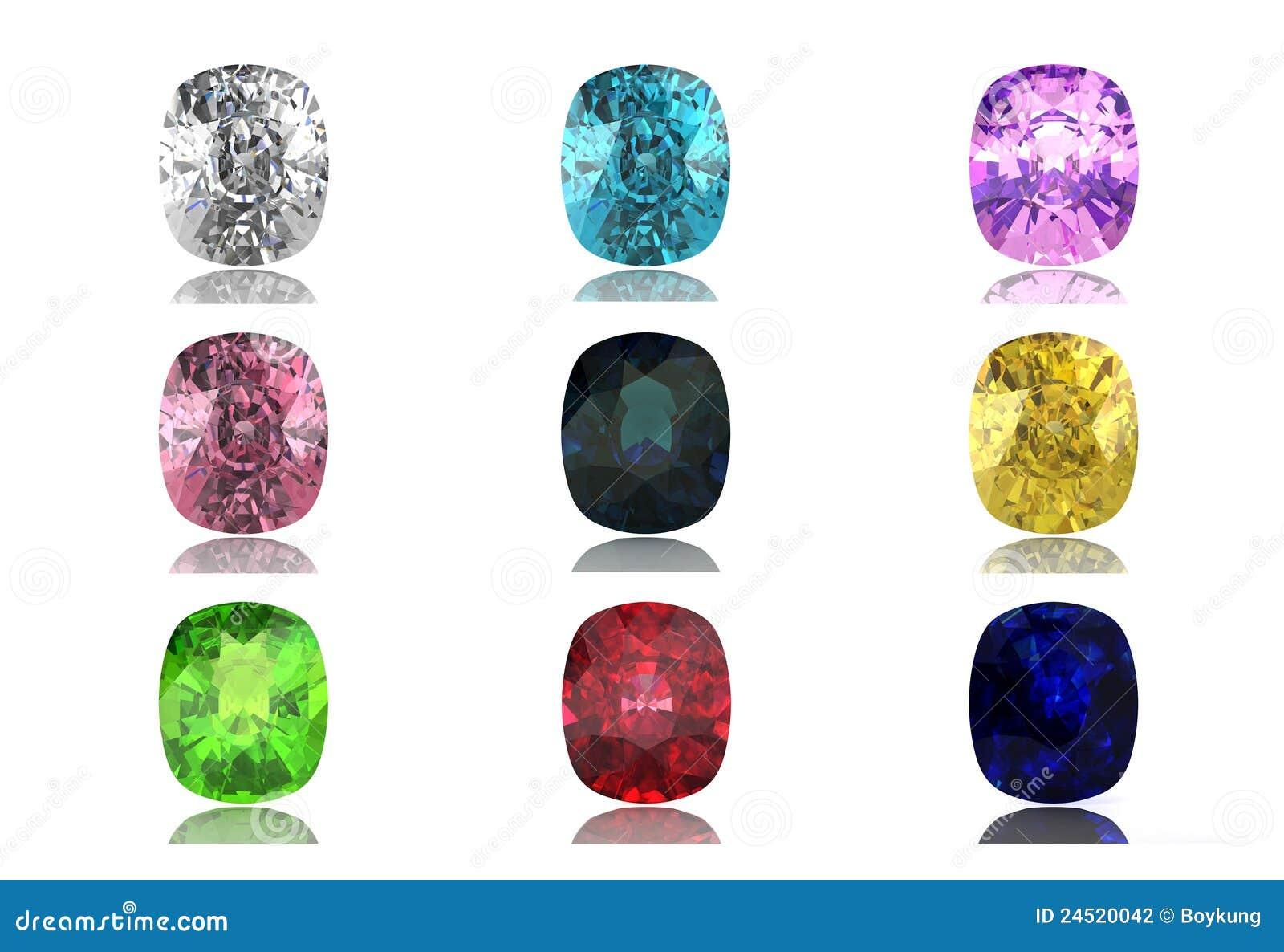 Set Of Gems Stock Photography Image 24520042