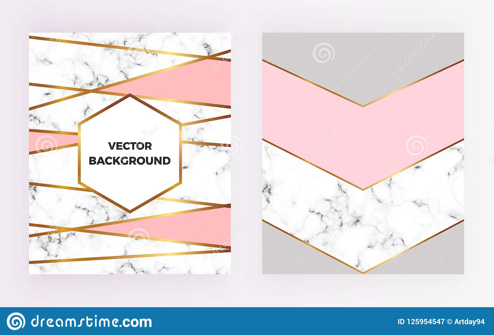 Set Geometric Designs Posters With Gold Cream Grey Pastel Pink Colors And Marble Texture Stripesr Background Template For Invi Stock Illustration Illustration Of Modern Line 125954547