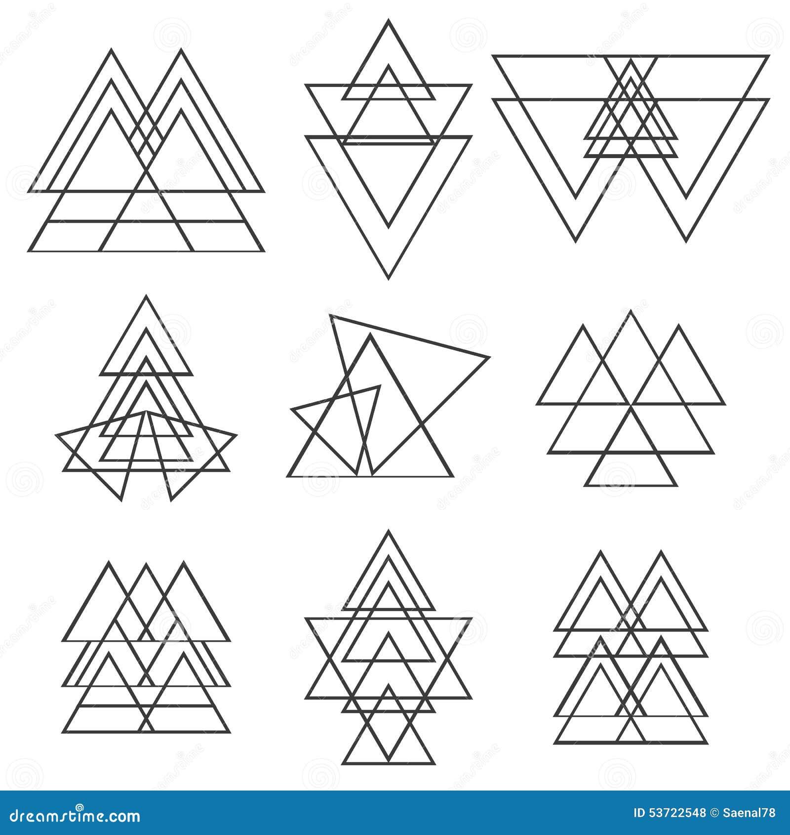 Set Of Geometric Shapes. Trendy Logotypes. Geometric Icons Stock ...