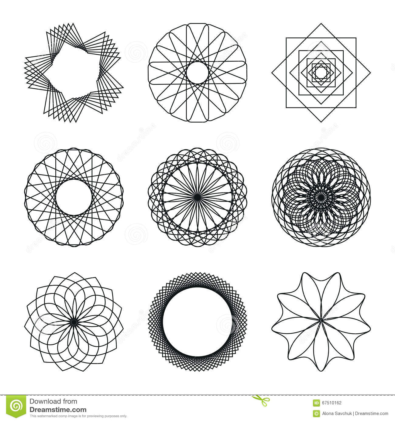 Set Of Geometric Shapes Stock Vector Illustration Of Circle 67510162